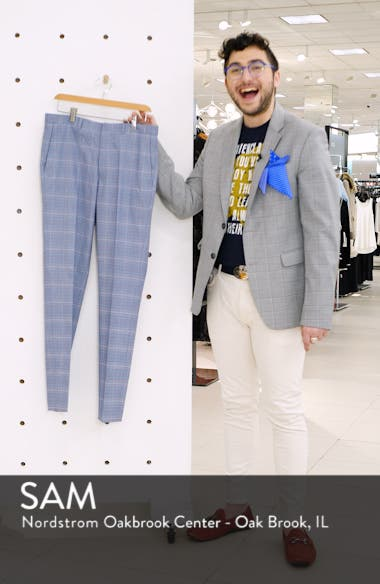 Skinny Fit Plaid Trousers, sales video thumbnail