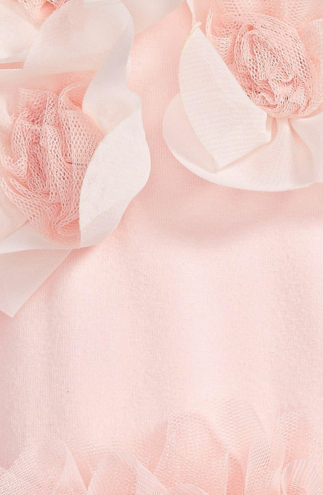 POPATU, Floral Tutu Bodysuit, Alternate thumbnail 2, color, PEACH