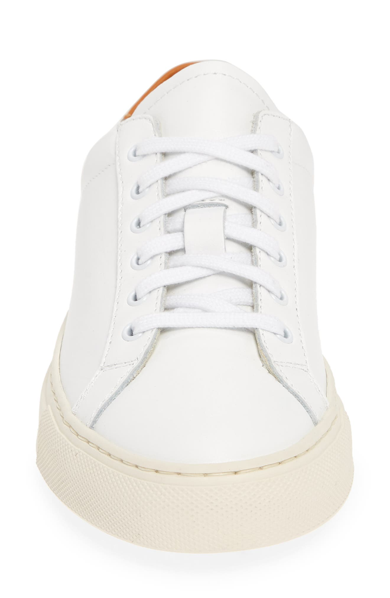 COMMON PROJECTS, Retro Low Top Sneaker, Alternate thumbnail 4, color, WHITE/ BROWN