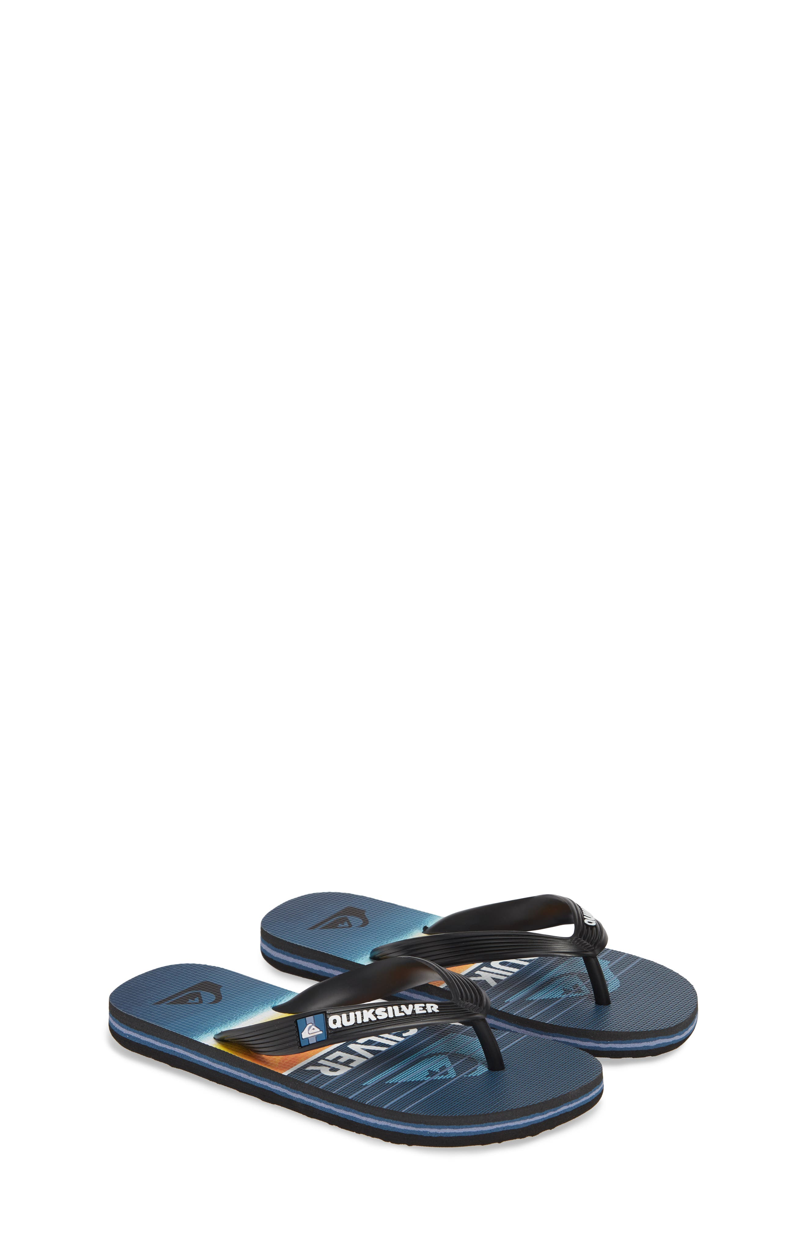 QUIKSILVER, Highline Slab Flip Flop, Alternate thumbnail 2, color, BLACK/ BLUE/ BLUE