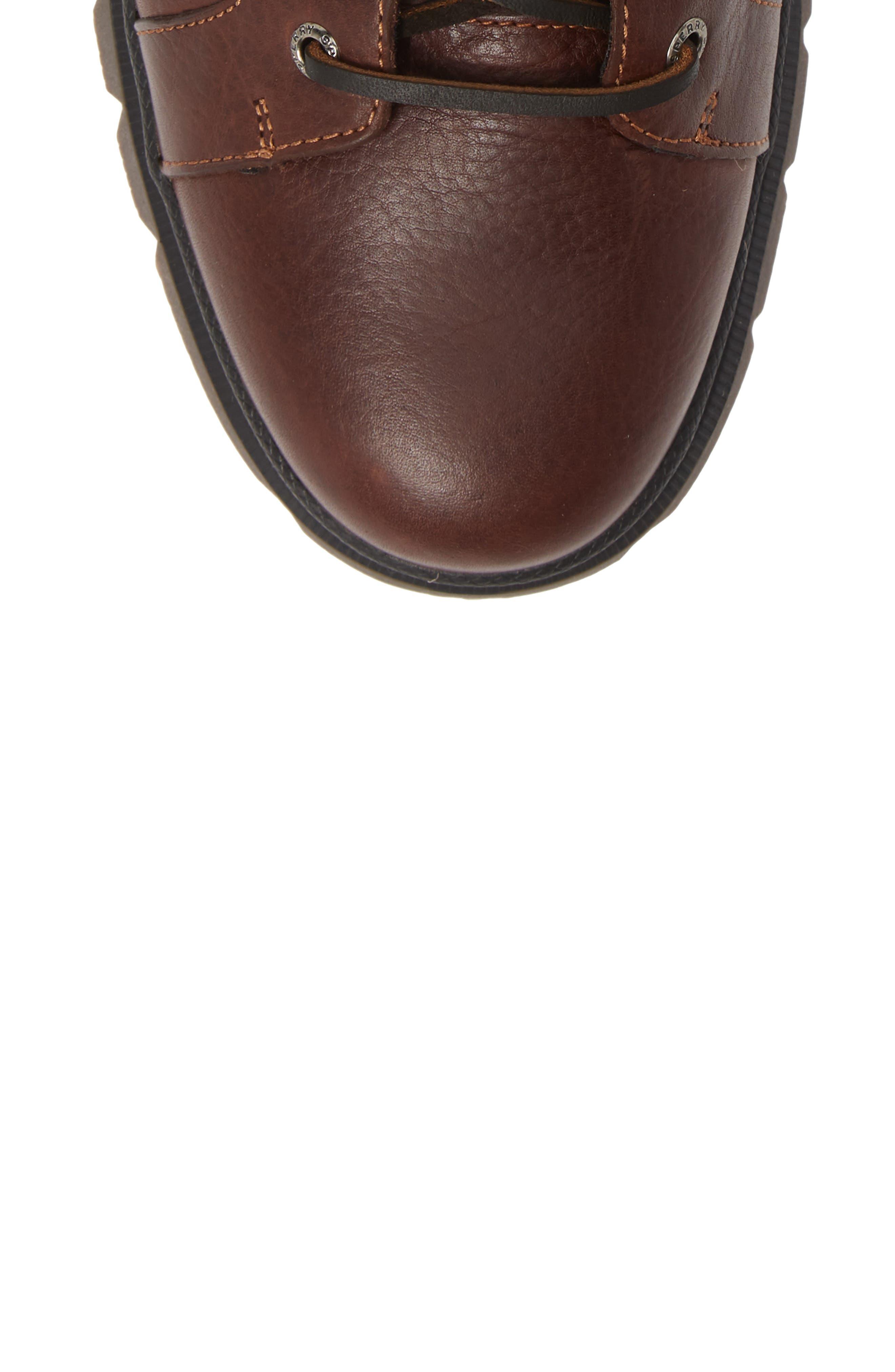 SPERRY, Watertown Waterproof Plain Toe Boot, Alternate thumbnail 5, color, DARK BROWN