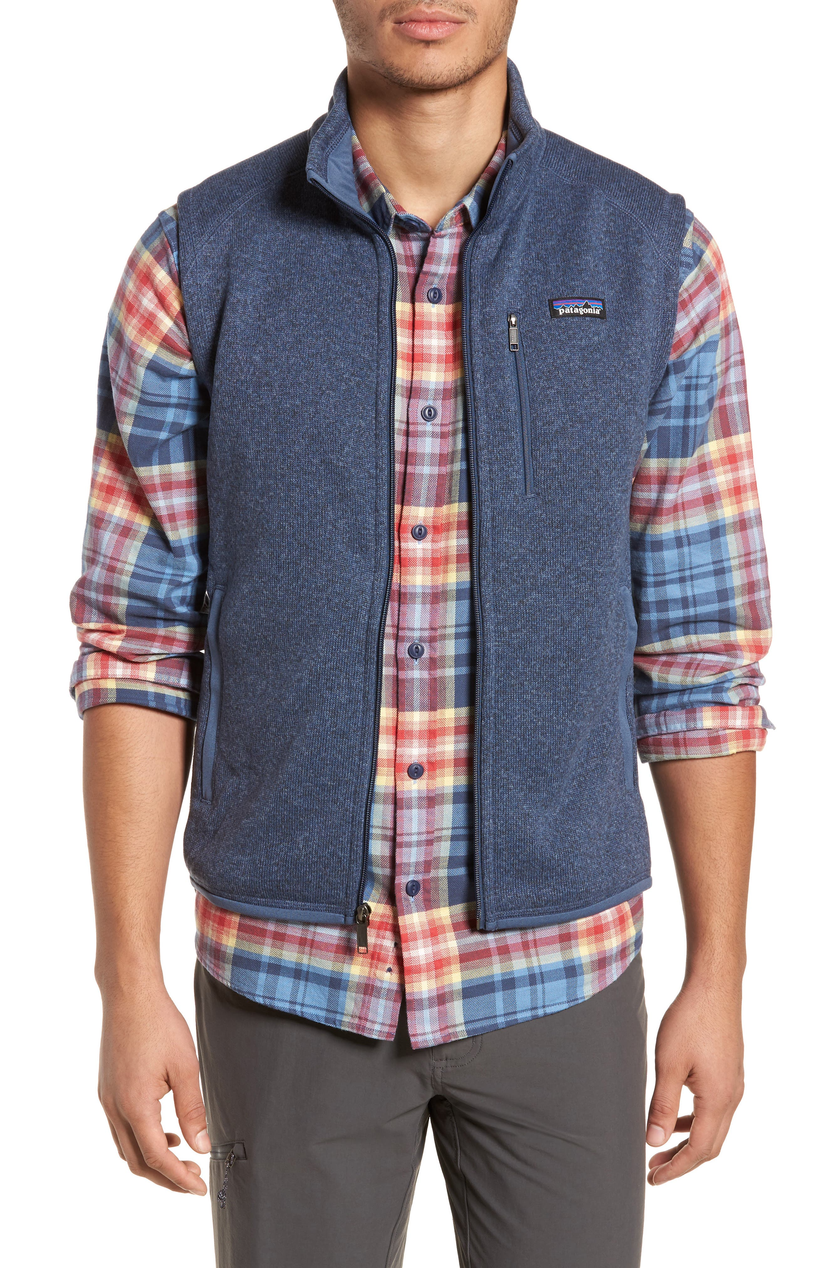PATAGONIA 'Better Sweater' Zip Front Vest, Main, color, DOLOMITE BLUE