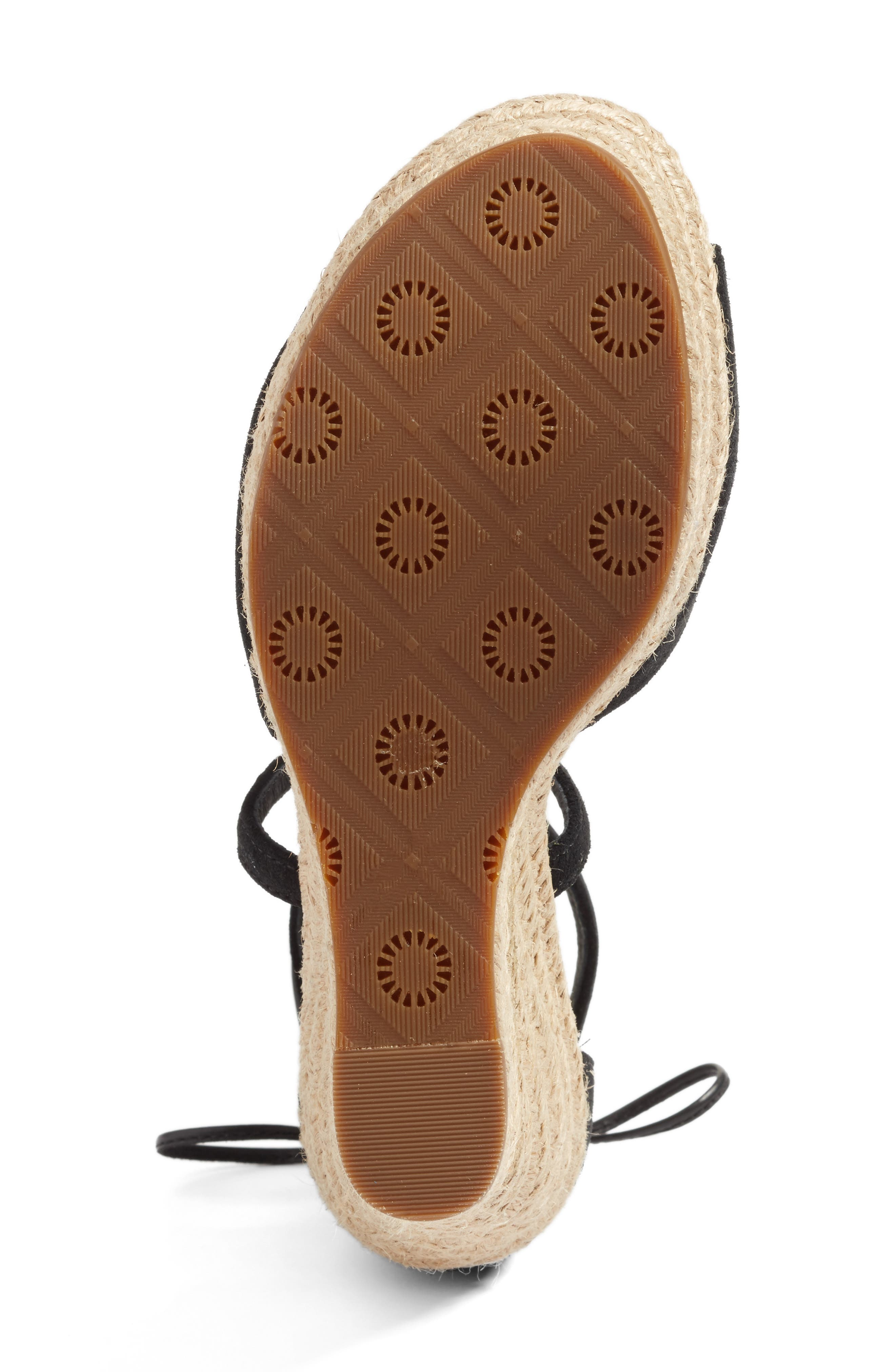 UGG<SUP>®</SUP>, Reagan Sandal, Alternate thumbnail 4, color, 001