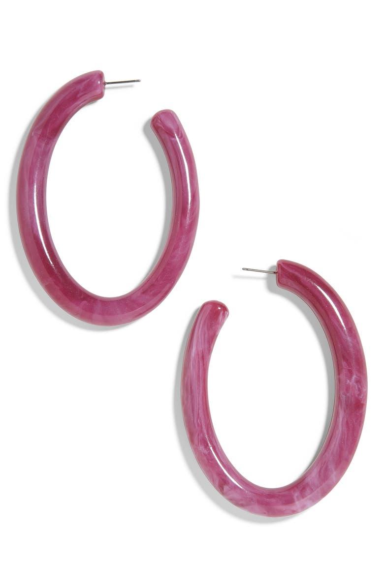 Baublebar Accessories PERNILLE RESIN HOOP EARRINGS