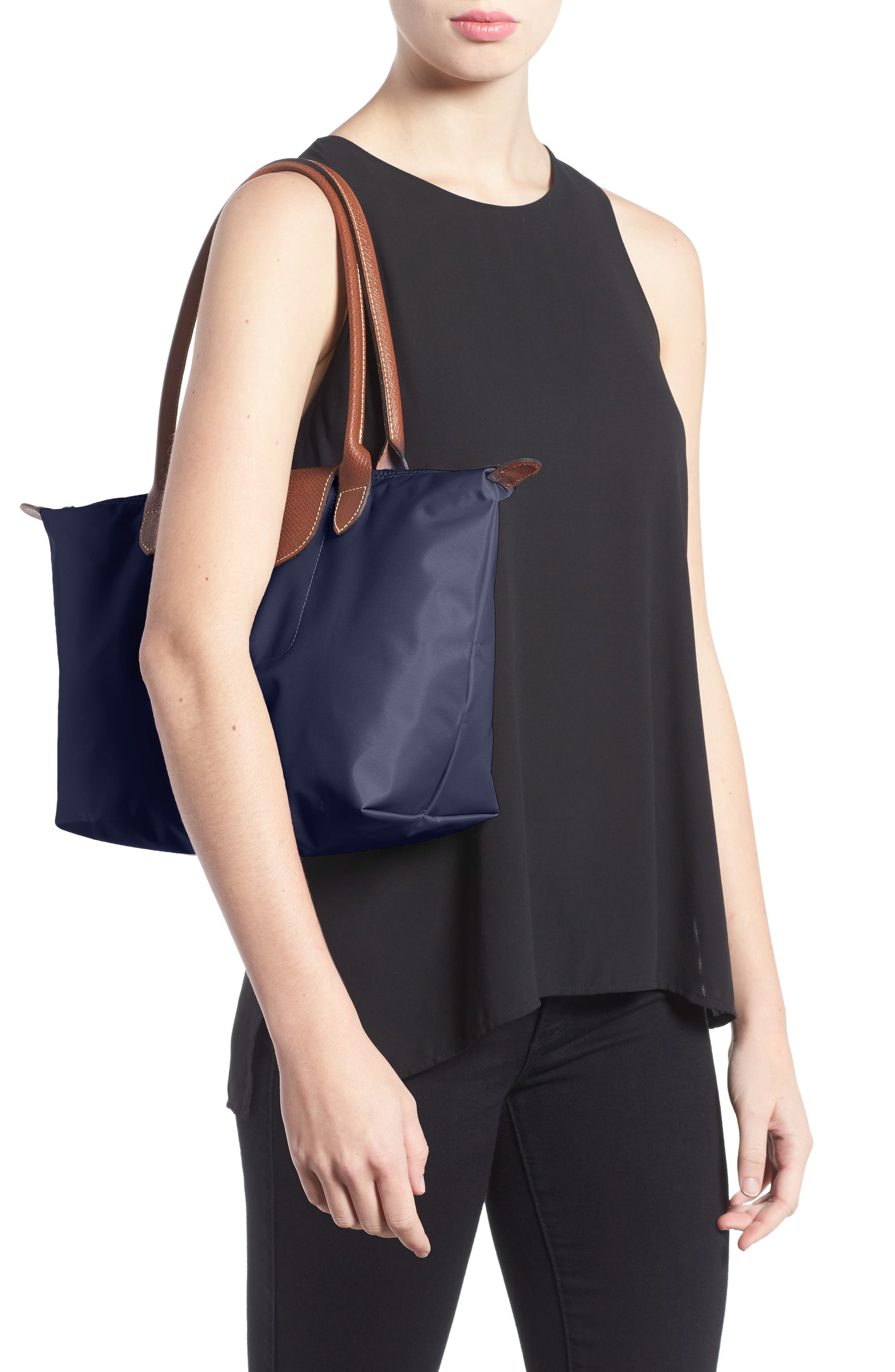 LONGCHAMP, 'Small Le Pliage' Tote, Alternate thumbnail 2, color, NEW NAVY