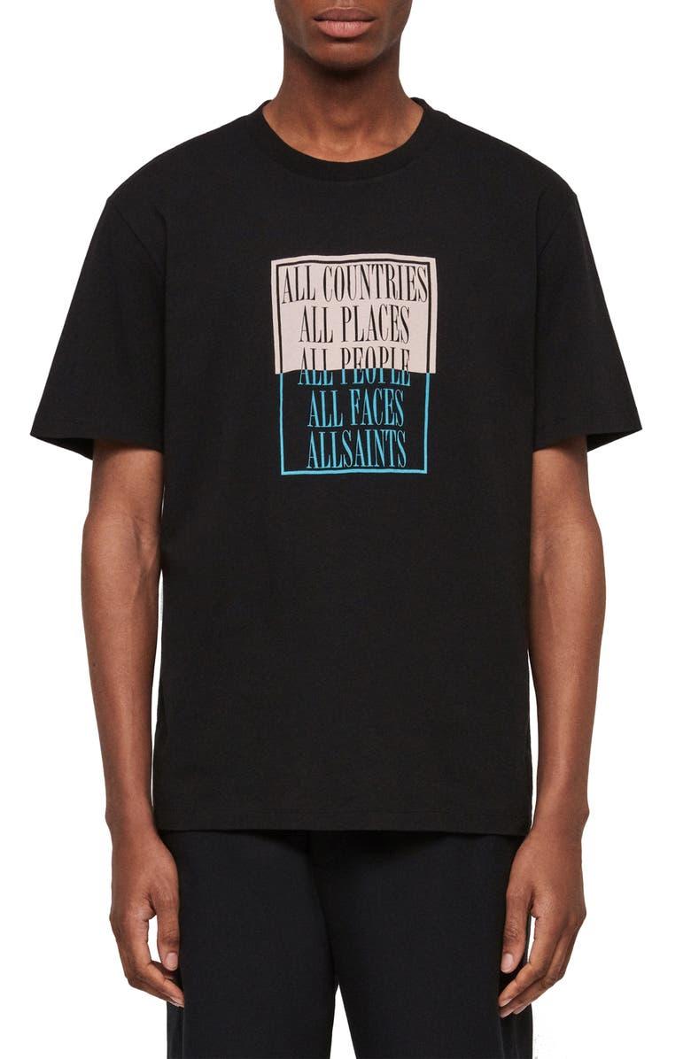 Allsaints T-shirts EMBRACE SLIM FIT GRAPHIC T-SHIRT