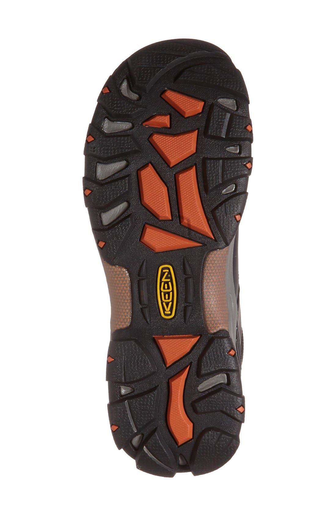 KEEN, Gypsum II Waterproof Hiking Boot, Alternate thumbnail 4, color, BLACK NUBUCK LEATHER