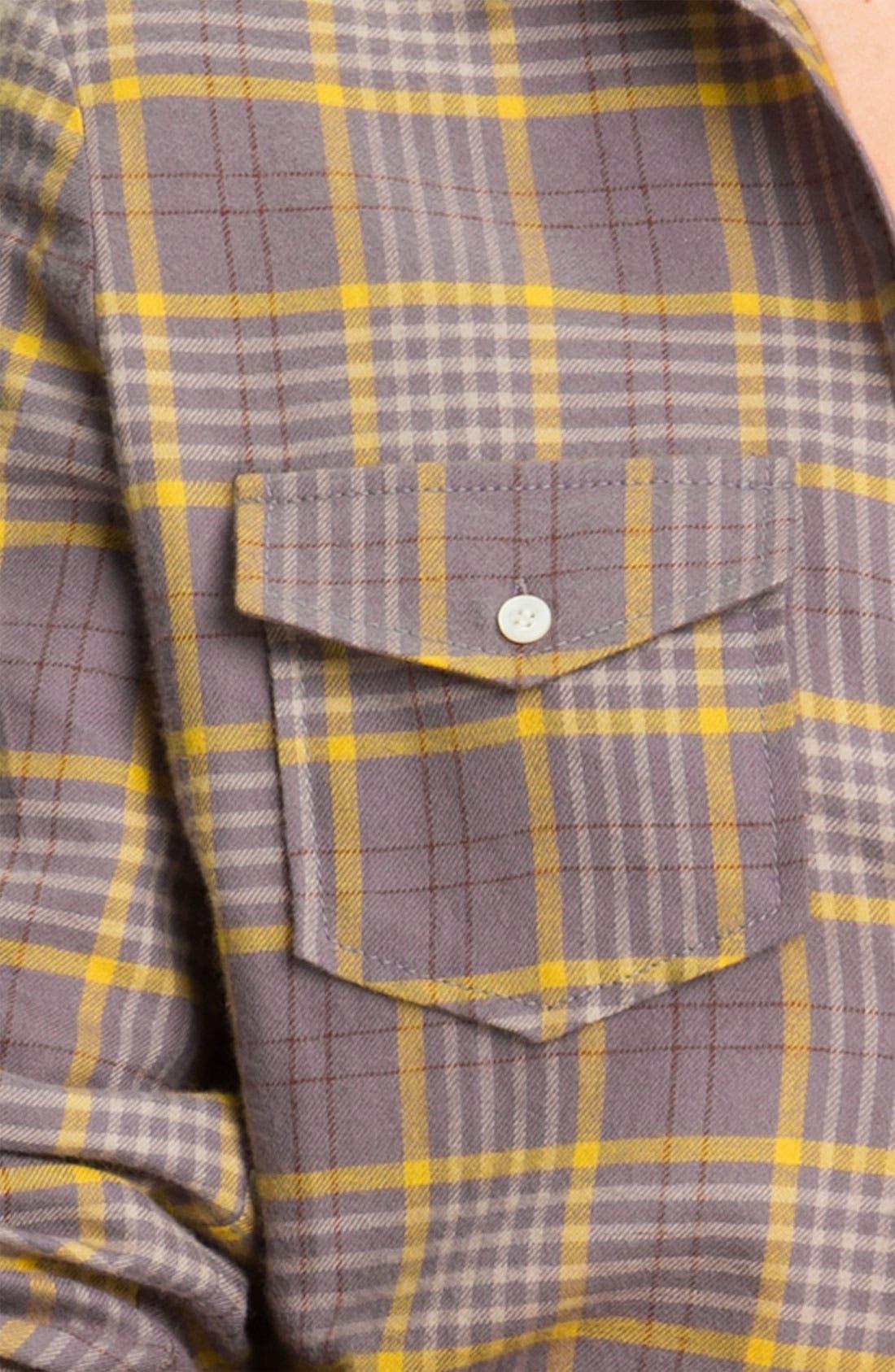 RUBBISH<SUP>®</SUP>, Plaid Cotton Shirt, Alternate thumbnail 2, color, 020