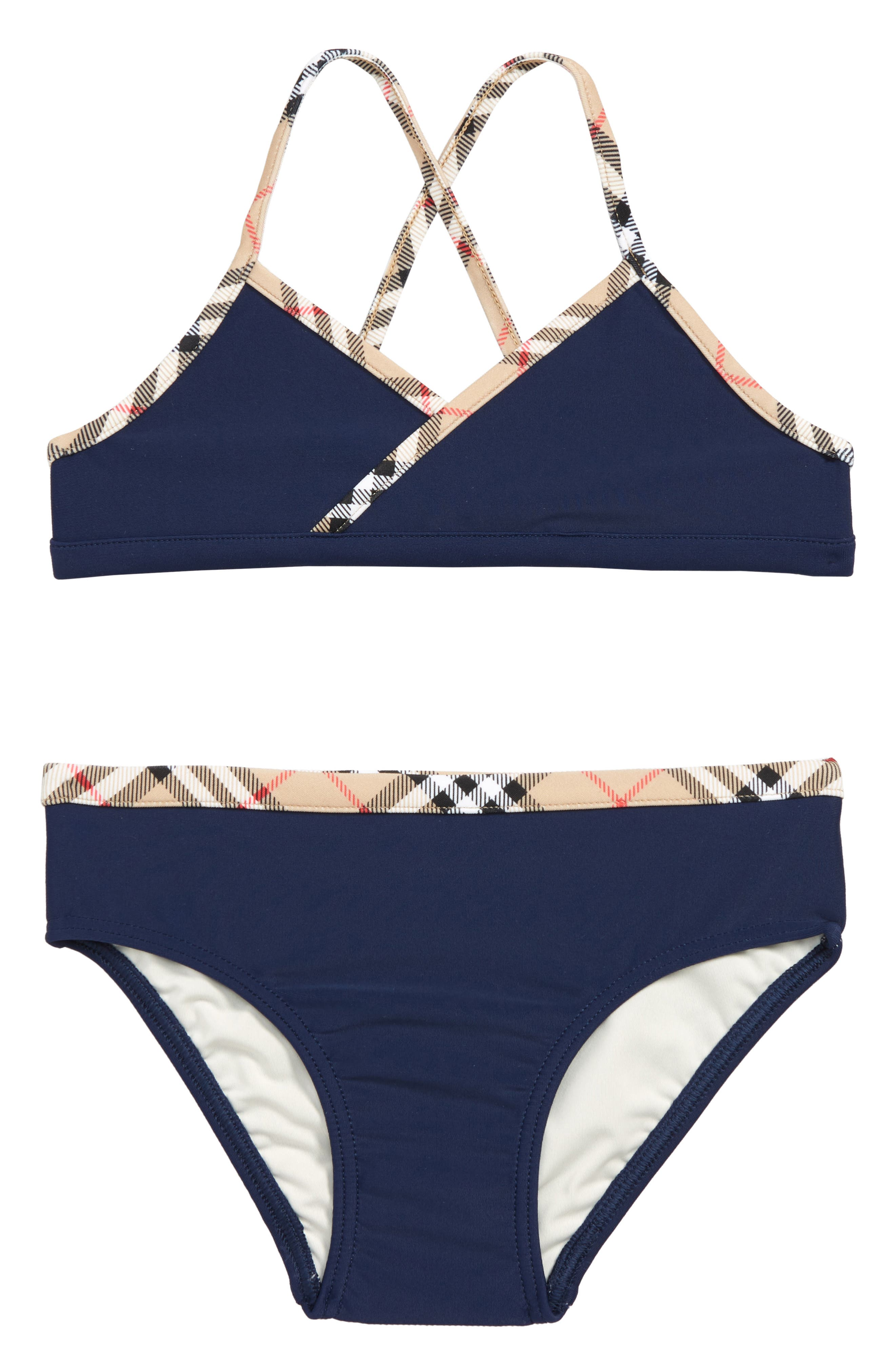 BURBERRY, Crosby Two-Piece Swimsuit, Main thumbnail 1, color, 400