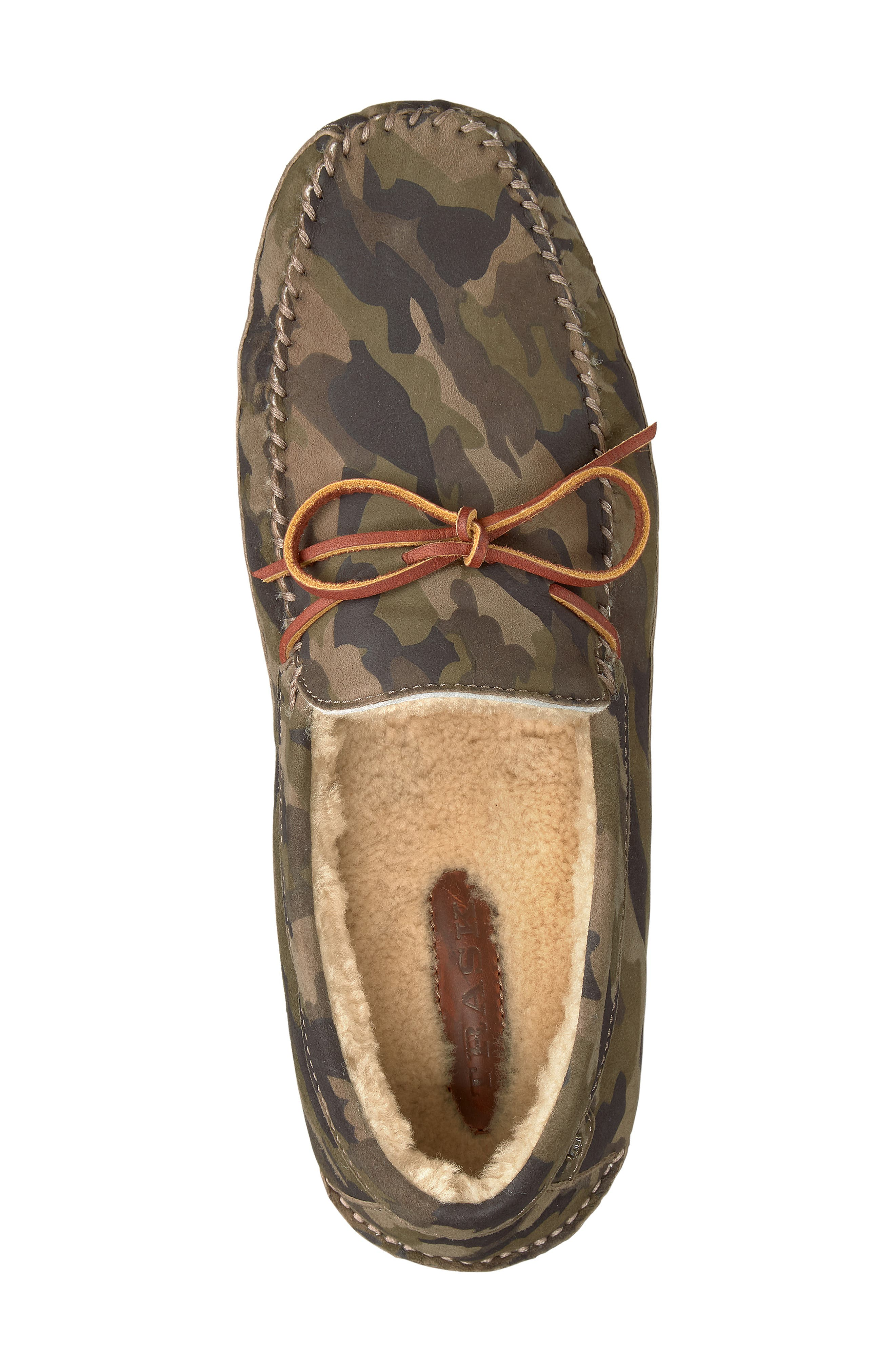 TRASK, 'Polson' Slipper, Alternate thumbnail 5, color, CAMO SUEDE/ SHEARLING