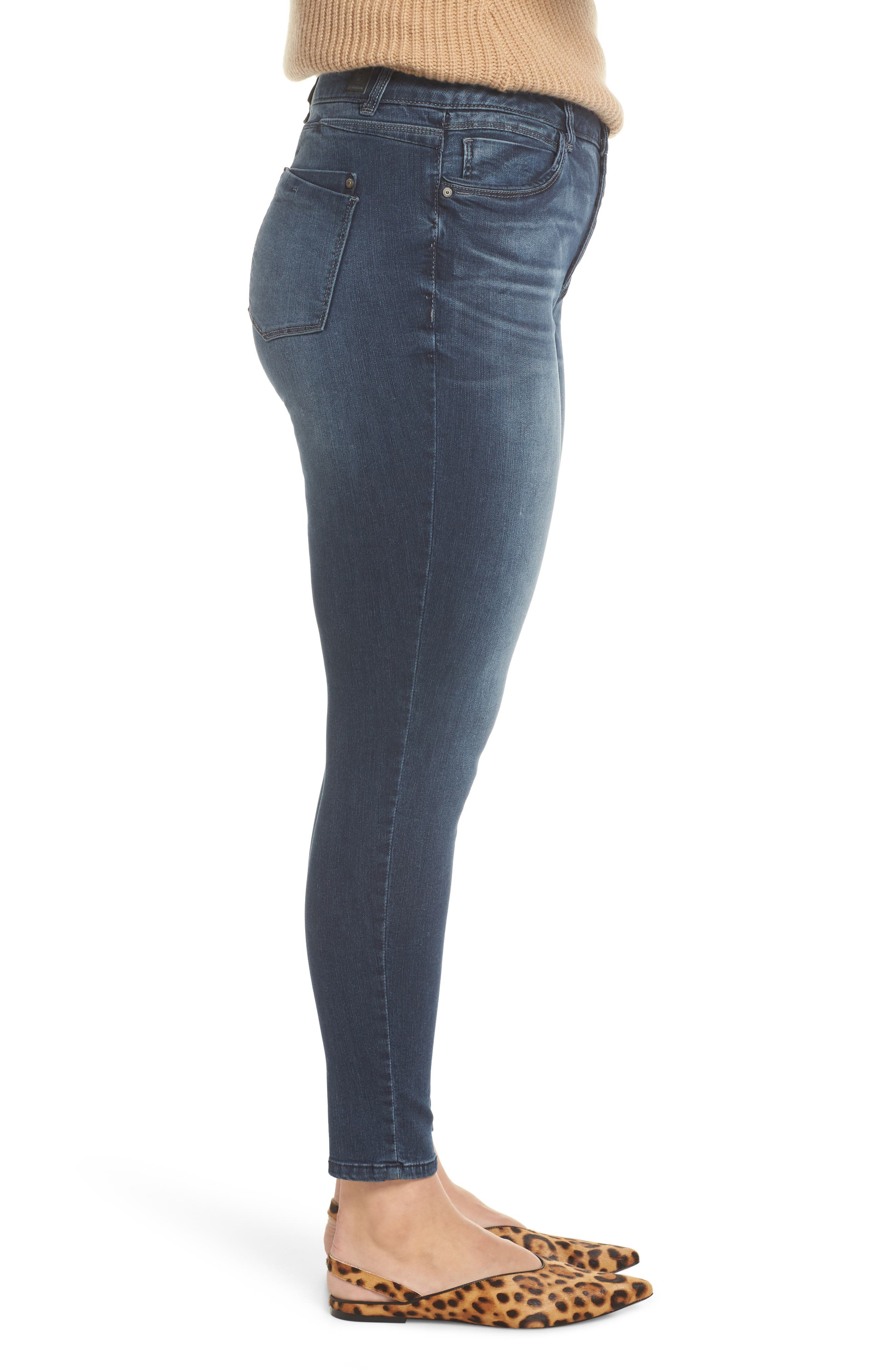 WIT & WISDOM, Contemporary Skinny Jeans, Alternate thumbnail 9, color, 402
