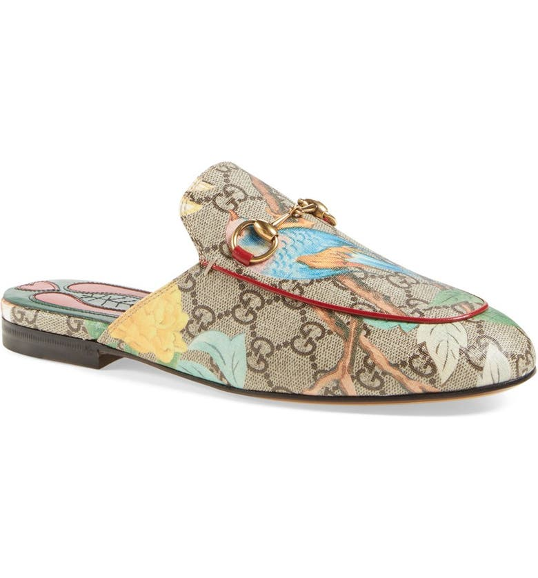 78c09ebe830 Gucci  Princetown  Floral Print Mule Loafer (Women)