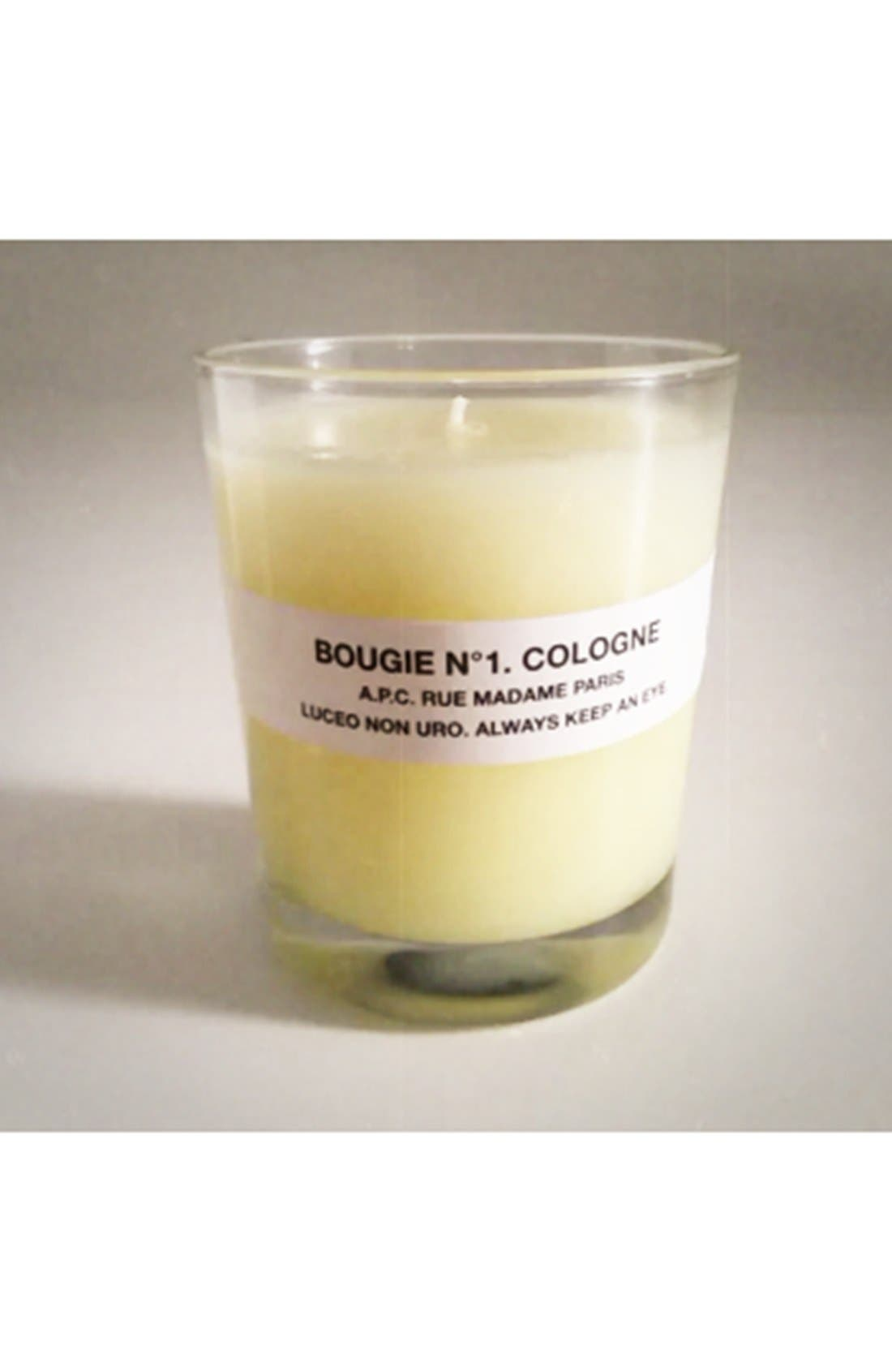 A.P.C., 'Bougie Cologne' Scented Candle, Alternate thumbnail 2, color, 800
