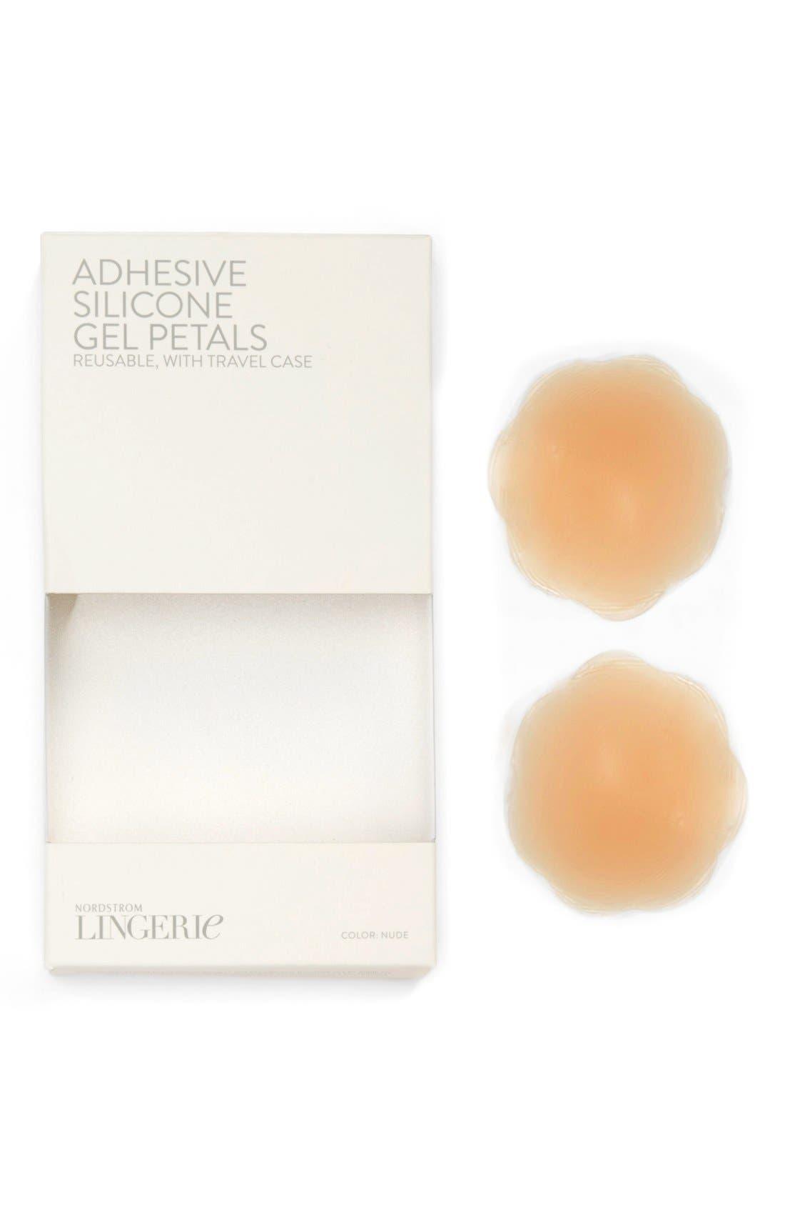 NORDSTROM LINGERIE Silicone Gel Breast Petals, Main, color, NUDE