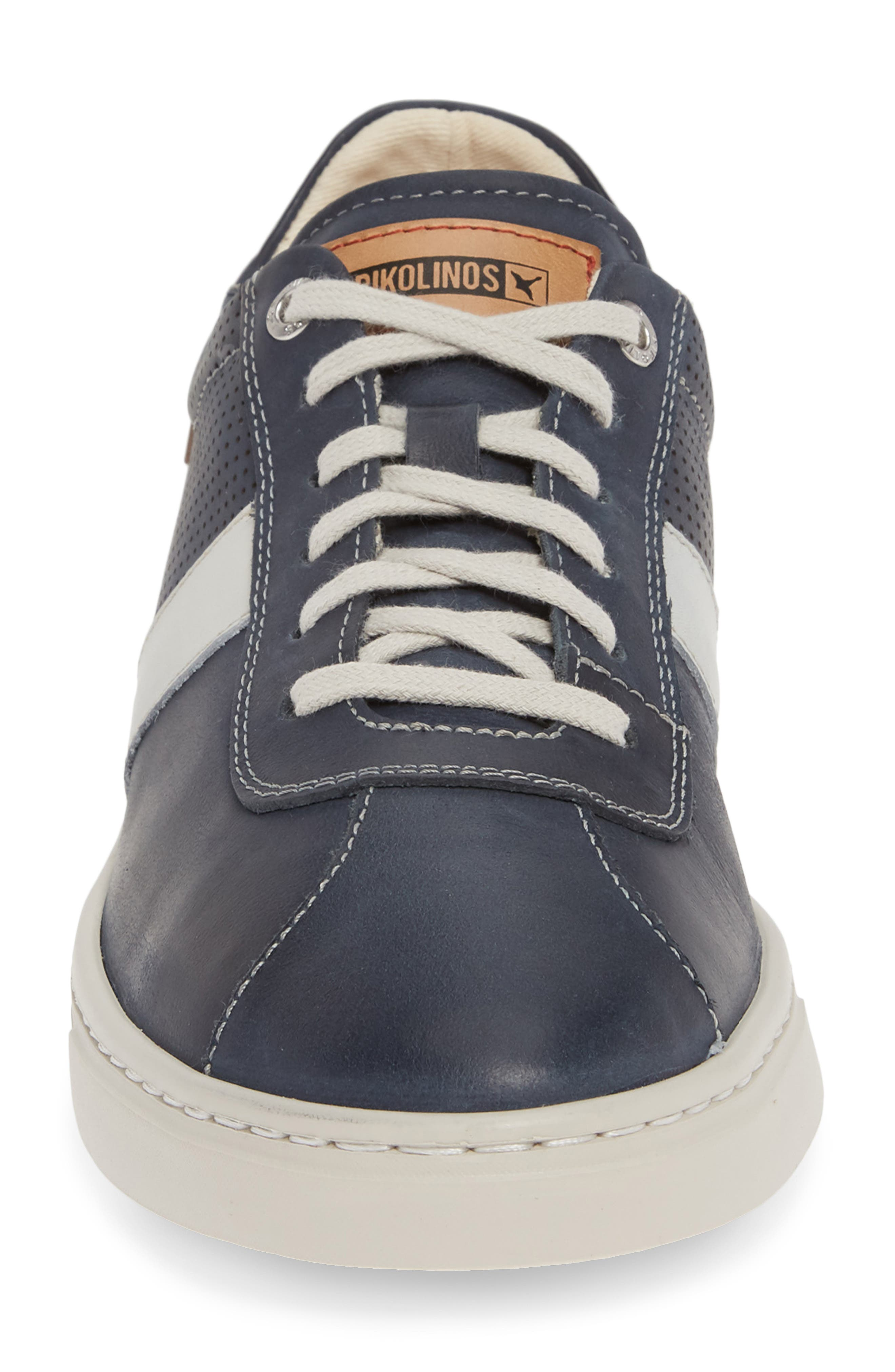 PIKOLINOS, Belfort Perforated Sneaker, Alternate thumbnail 4, color, BLUE