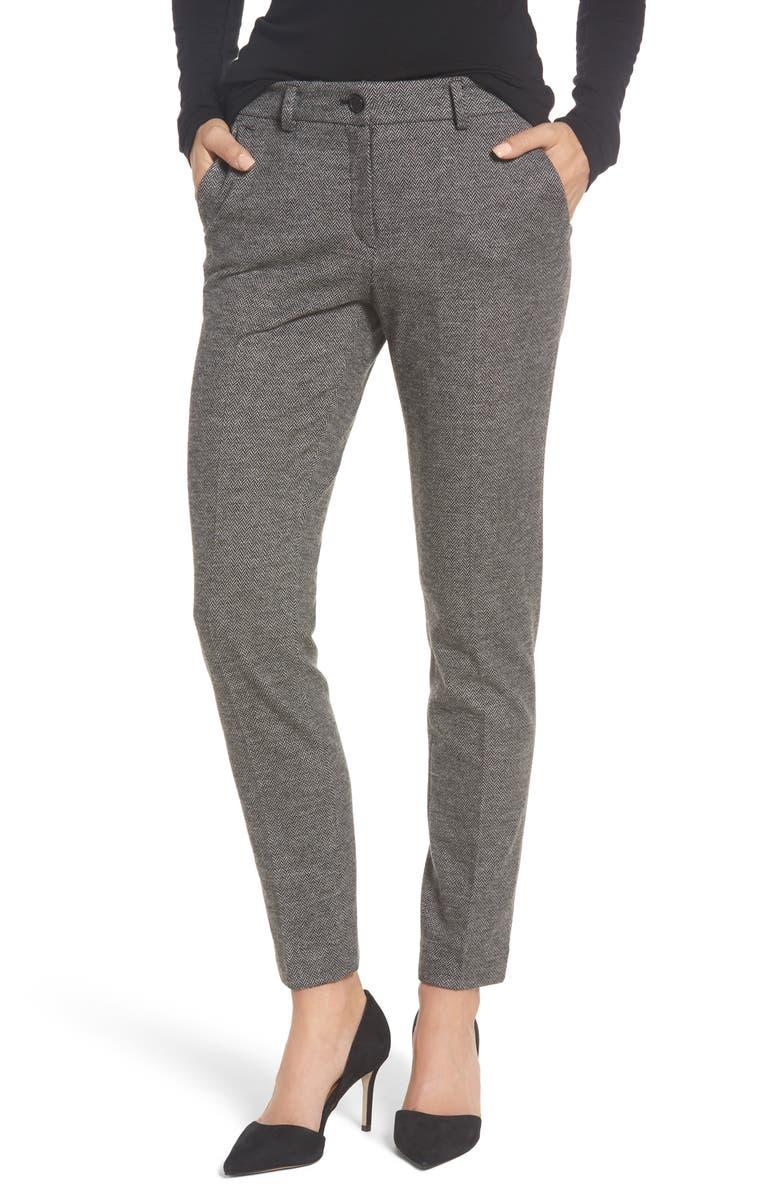3571f610 BRAX Herringbone Jersey Pants, Main, color, 026