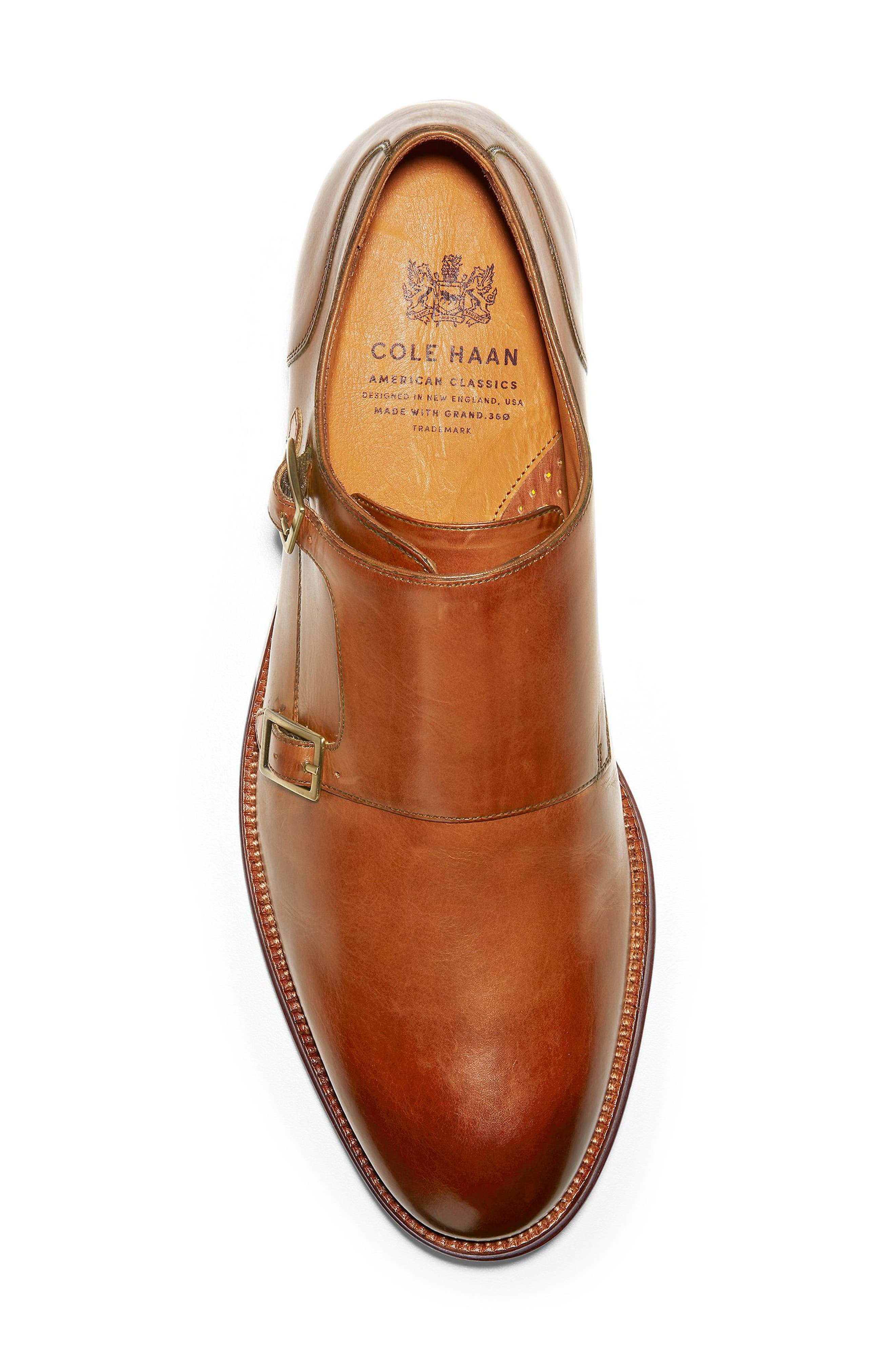 COLE HAAN, American Classics Gramercy Double Strap Monk Shoe, Alternate thumbnail 5, color, BRITISH TAN LEATHER
