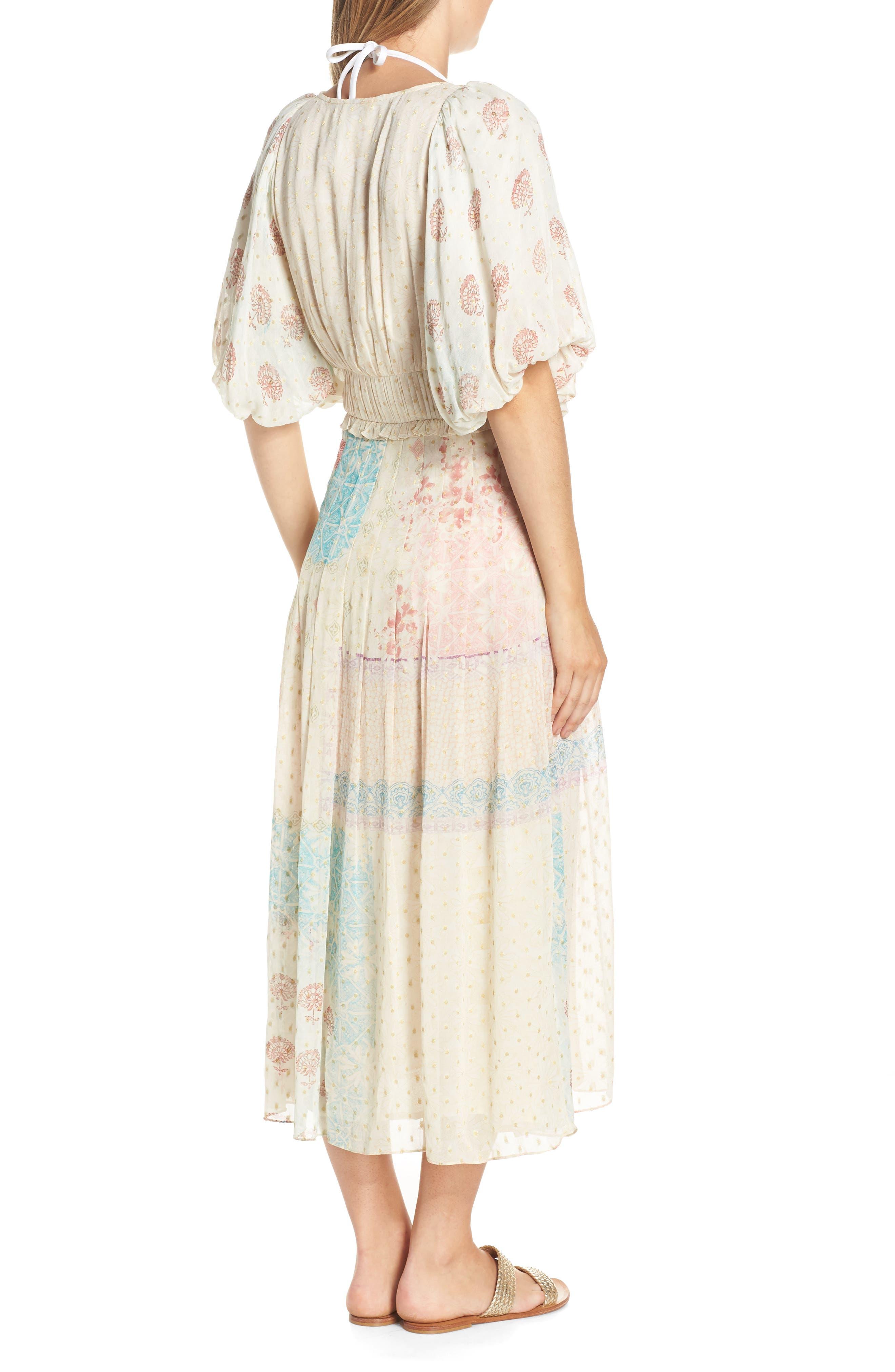 HEMANT & NANDITA, Cover-Up Maxi Dress, Alternate thumbnail 2, color, PASTEL