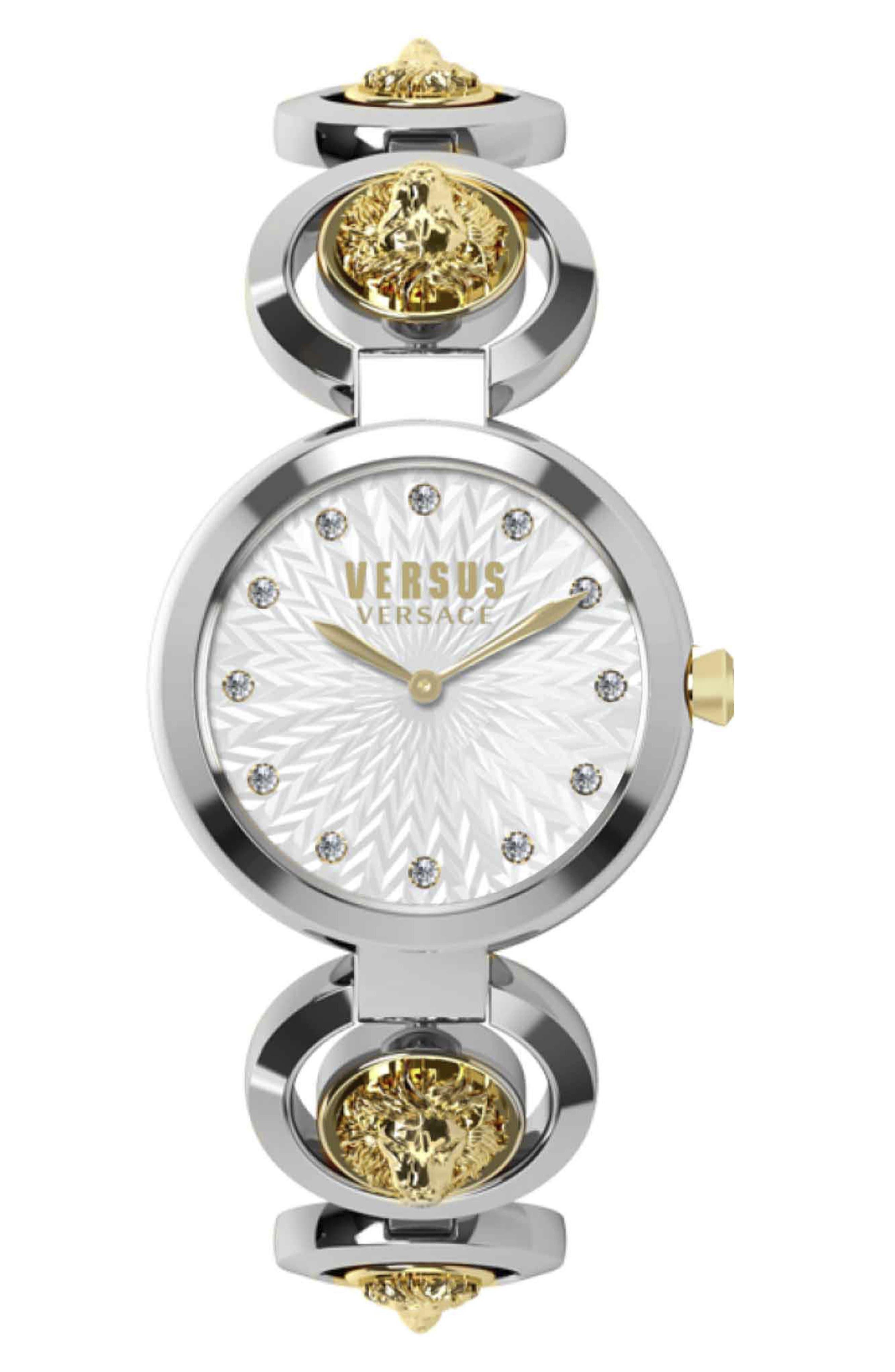 VERSUS VERSACE Peking Road Bracelet Watch, 34mm, Main, color, SILVER/ GOLD