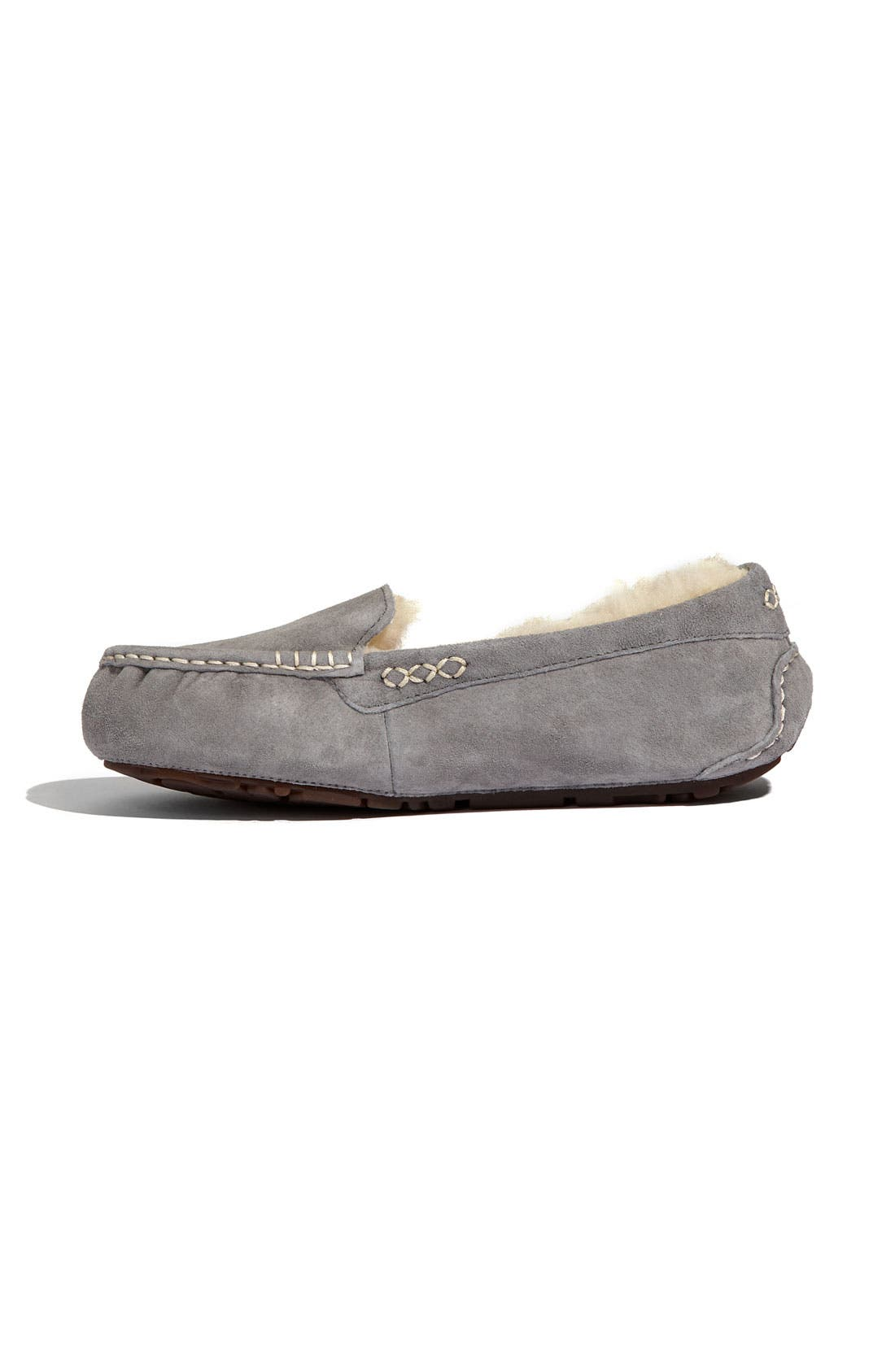 UGG<SUP>®</SUP>, Ansley Water Resistant Slipper, Alternate thumbnail 8, color, LIGHT GREY