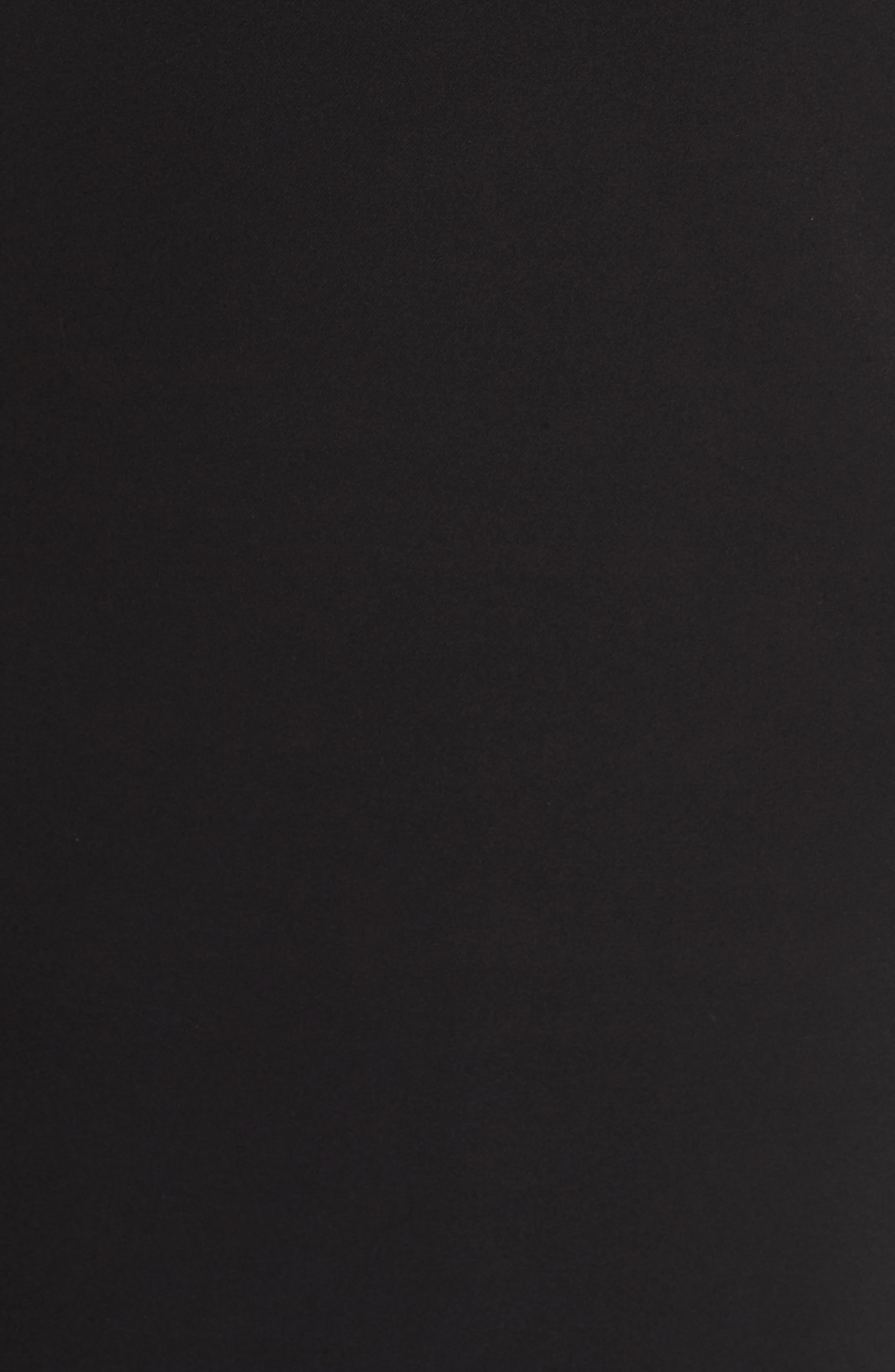 VINCE CAMUTO, One-Shoulder Cape Gown, Alternate thumbnail 6, color, BLACK