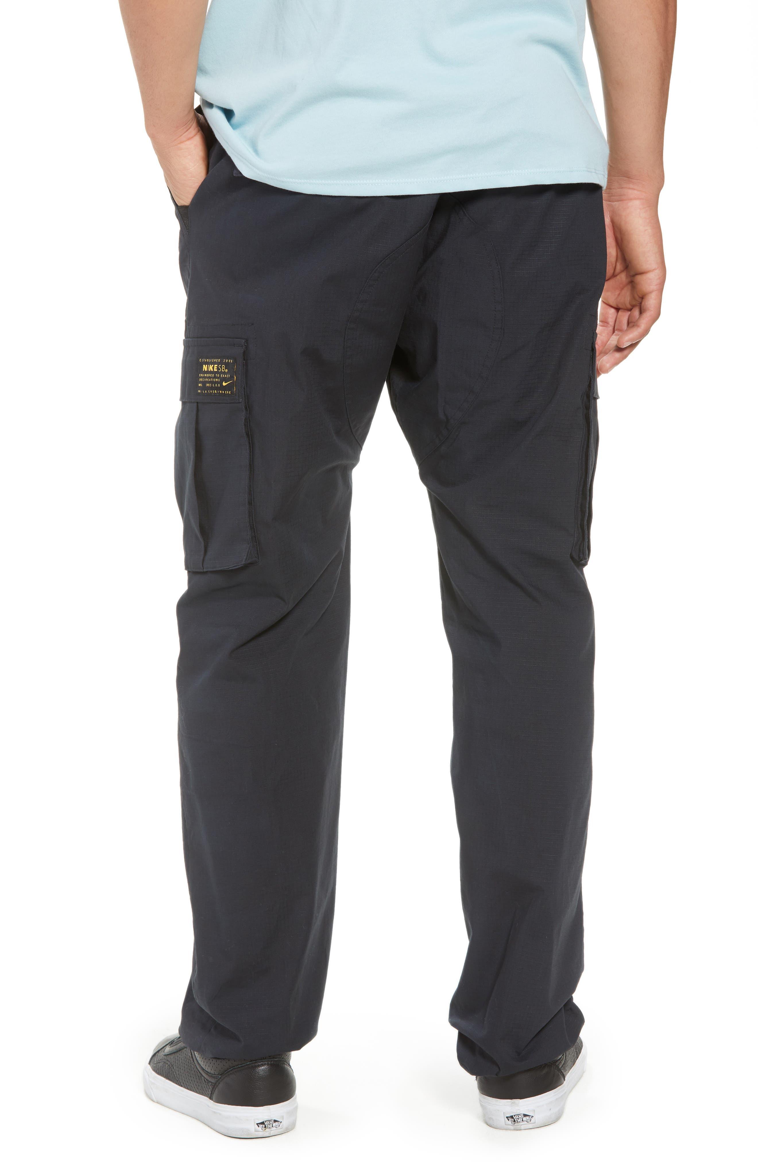 NIKE SB, Flex Cargo Pants, Alternate thumbnail 2, color, BLACK