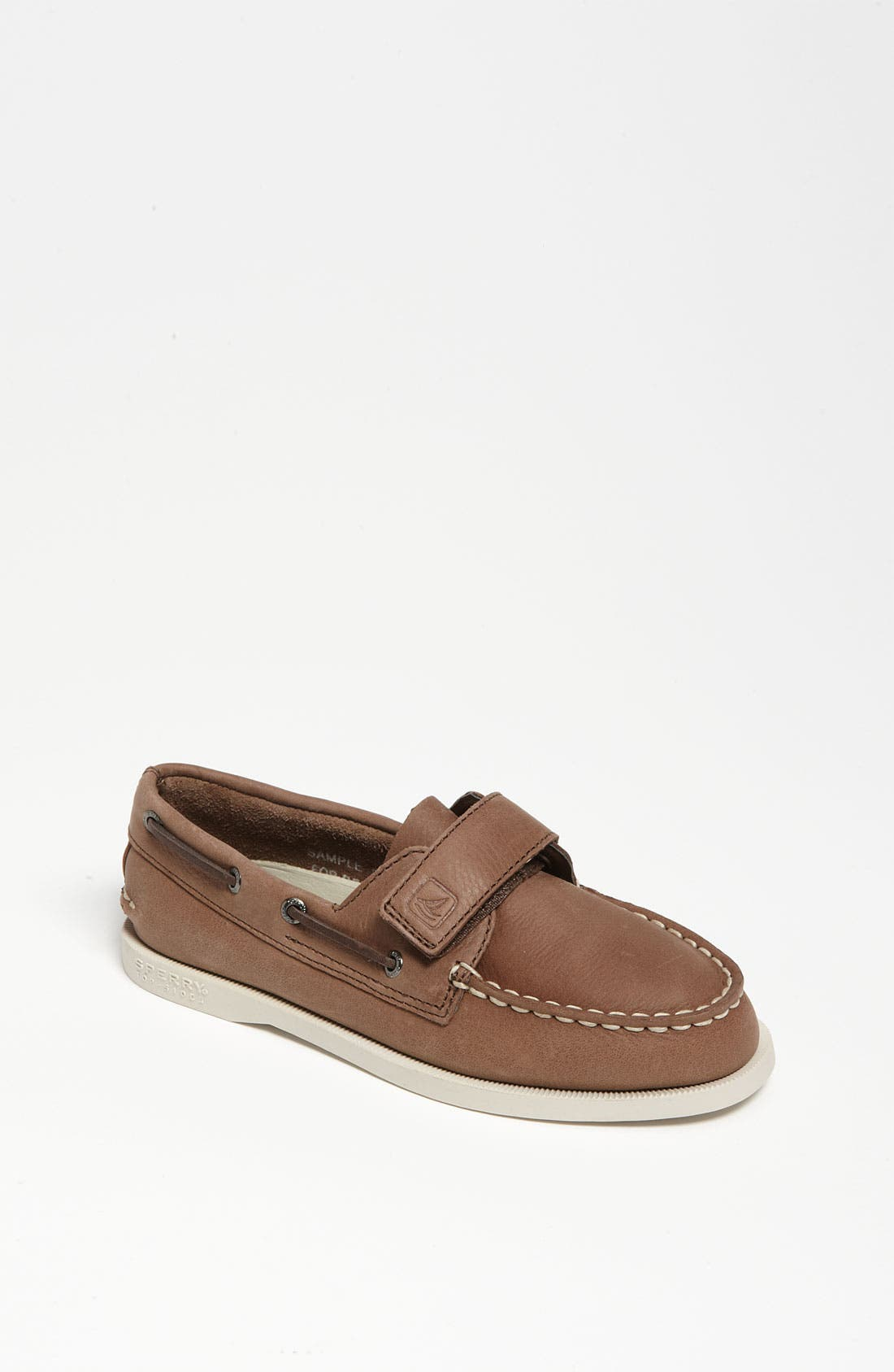 SPERRY KIDS, Sperry Top-Sider<sup>®</sup> Kids 'Authentic Original' Boat Shoe, Main thumbnail 1, color, BROWN