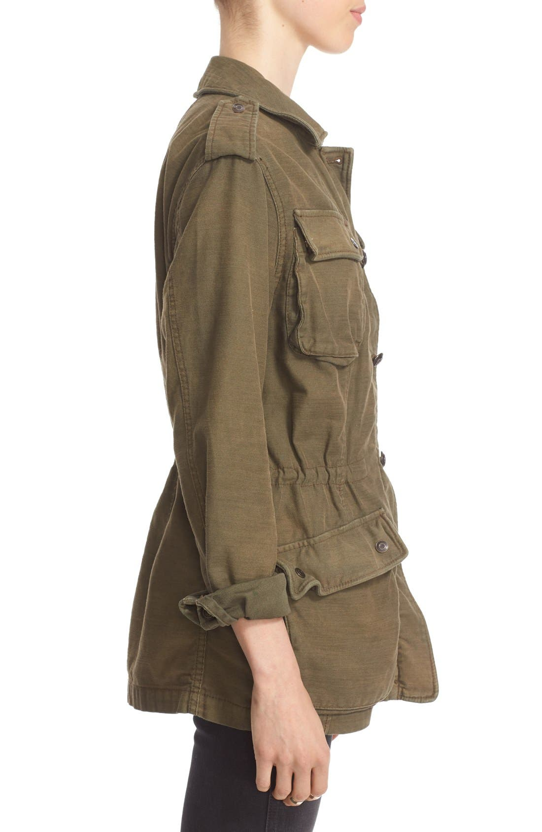 FREE PEOPLE, 'Not Your Brother's' Utility Jacket, Alternate thumbnail 3, color, 400