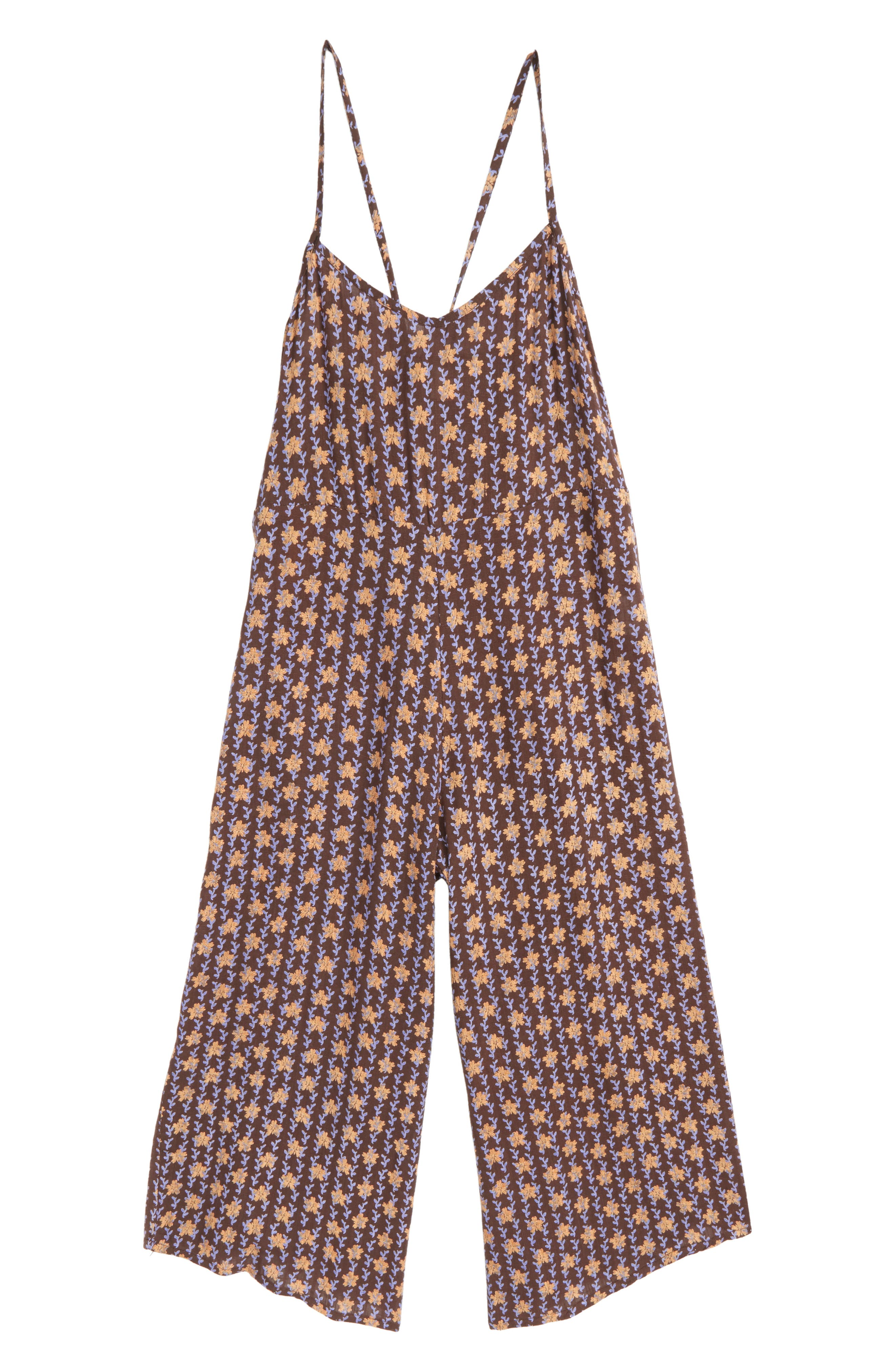 O'NEILL, Darcy Floral Romper, Main thumbnail 1, color, 003
