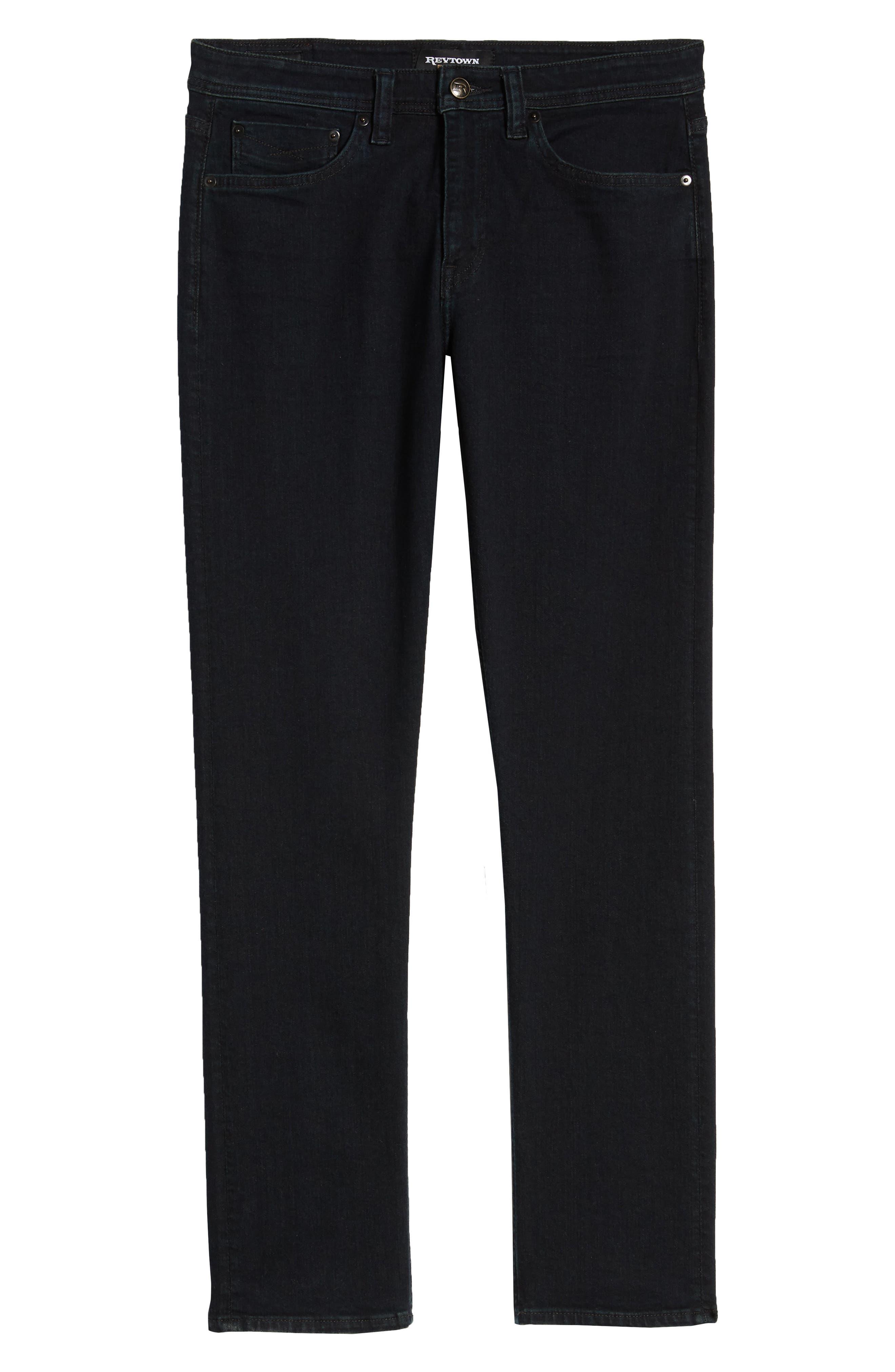 REVTOWN, Sharp Slim Fit Jeans, Alternate thumbnail 7, color, RINSE INDIGO