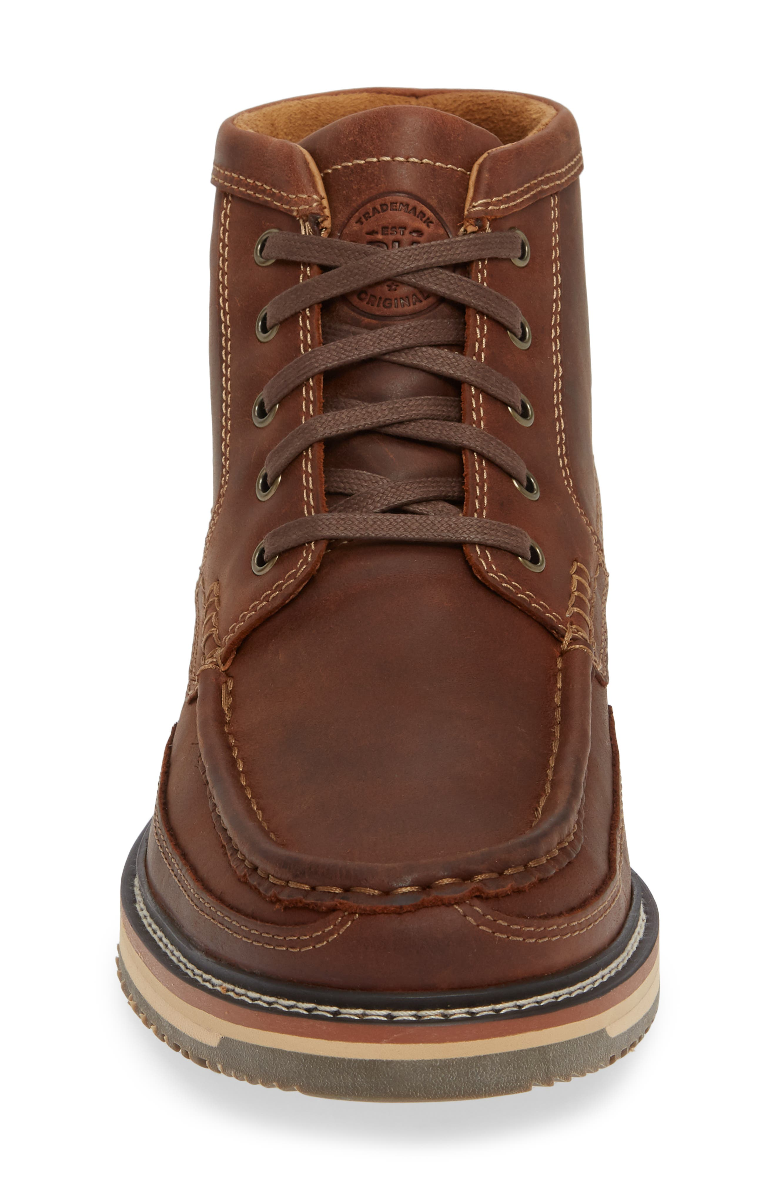 ARIAT, 'Lookout' Moc Toe Boot, Alternate thumbnail 4, color, FOOTHILL BROWN LEATHER