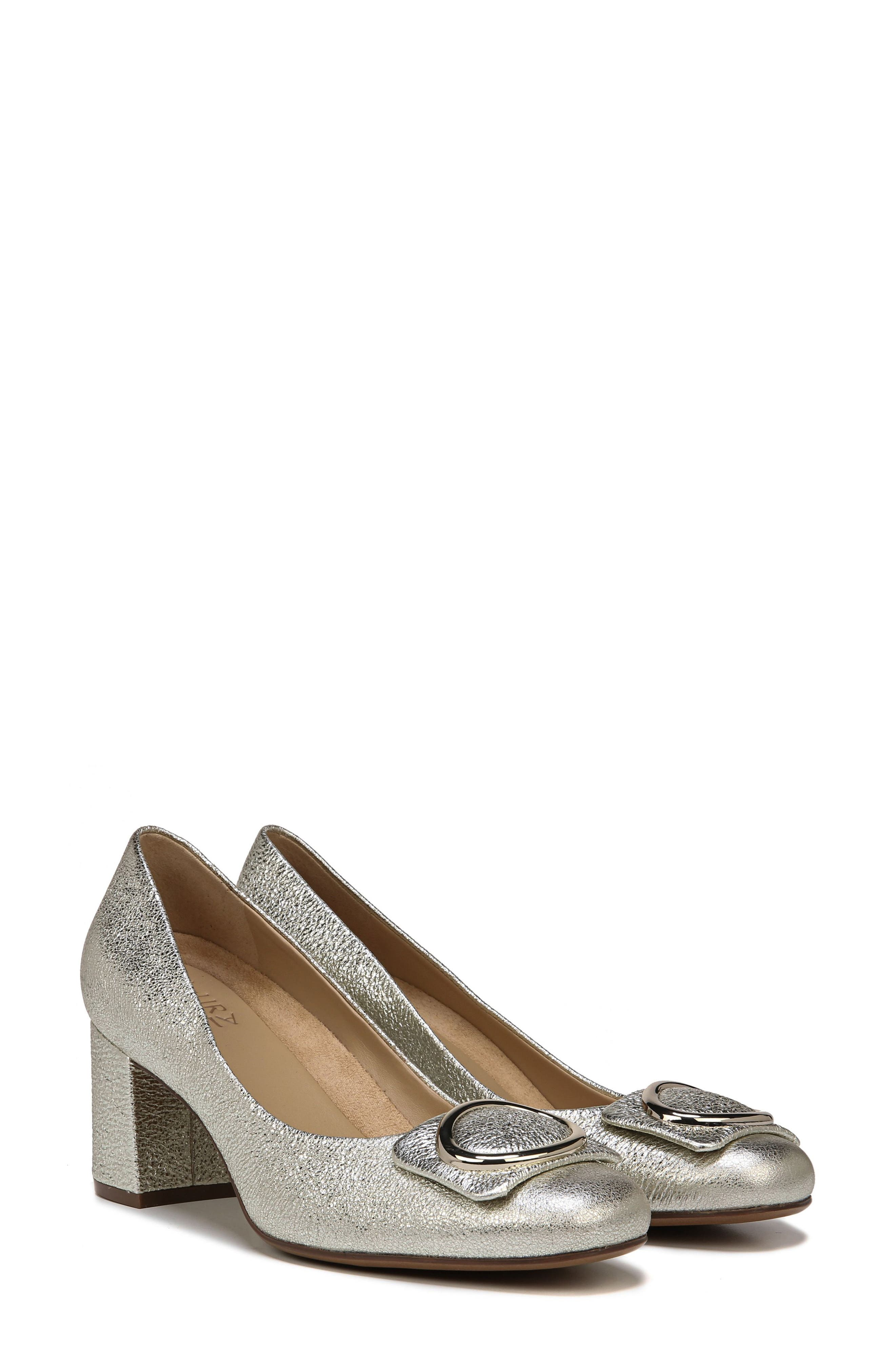 NATURALIZER, Wright Pump, Alternate thumbnail 7, color, PLATINO LEATHER