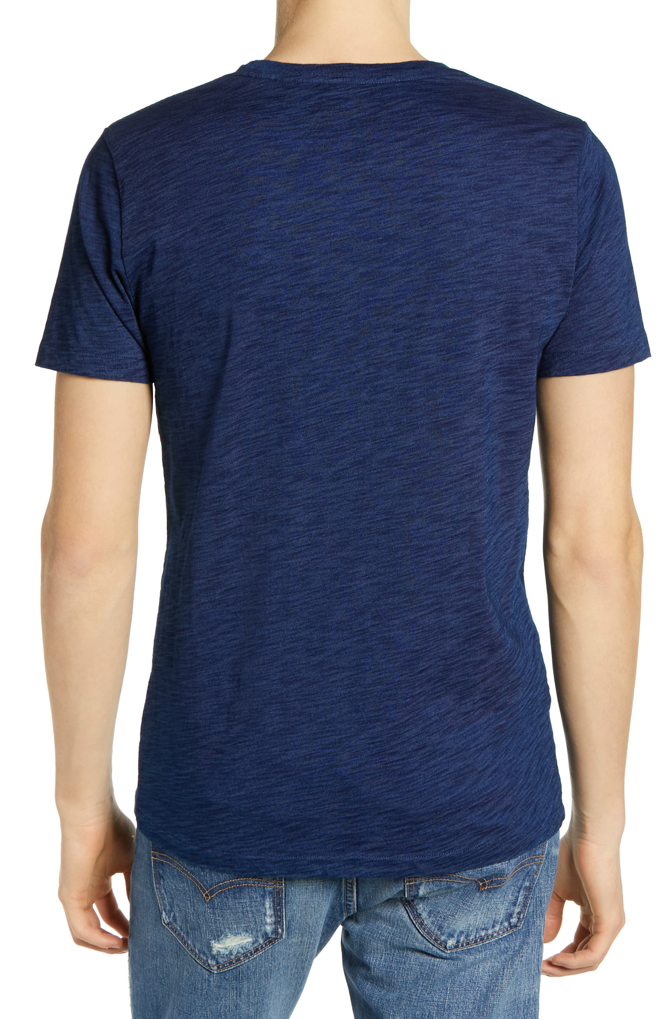 LEVI'S<SUP>®</SUP> MADE & CRAFTED<SUP>™</SUP>, Pocket T-Shirt, Alternate thumbnail 2, color, WASHED BLUE INDIGO