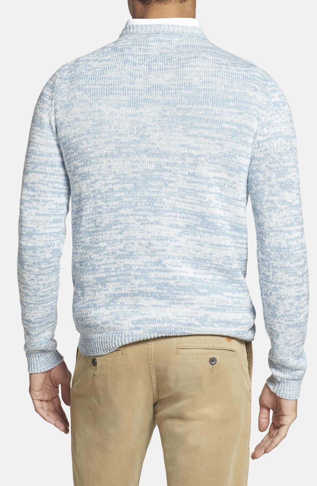 GRAYERS, 'Beach Marl' Crewneck Sweater, Alternate thumbnail 4, color, 465