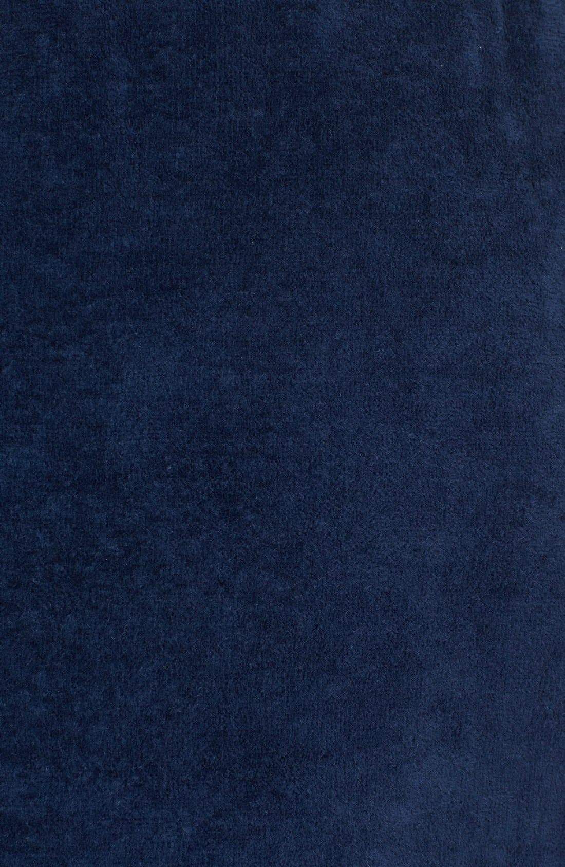 MAJESTIC INTERNATIONAL, Velour Shave Wrap, Alternate thumbnail 3, color, NAVY BLUE