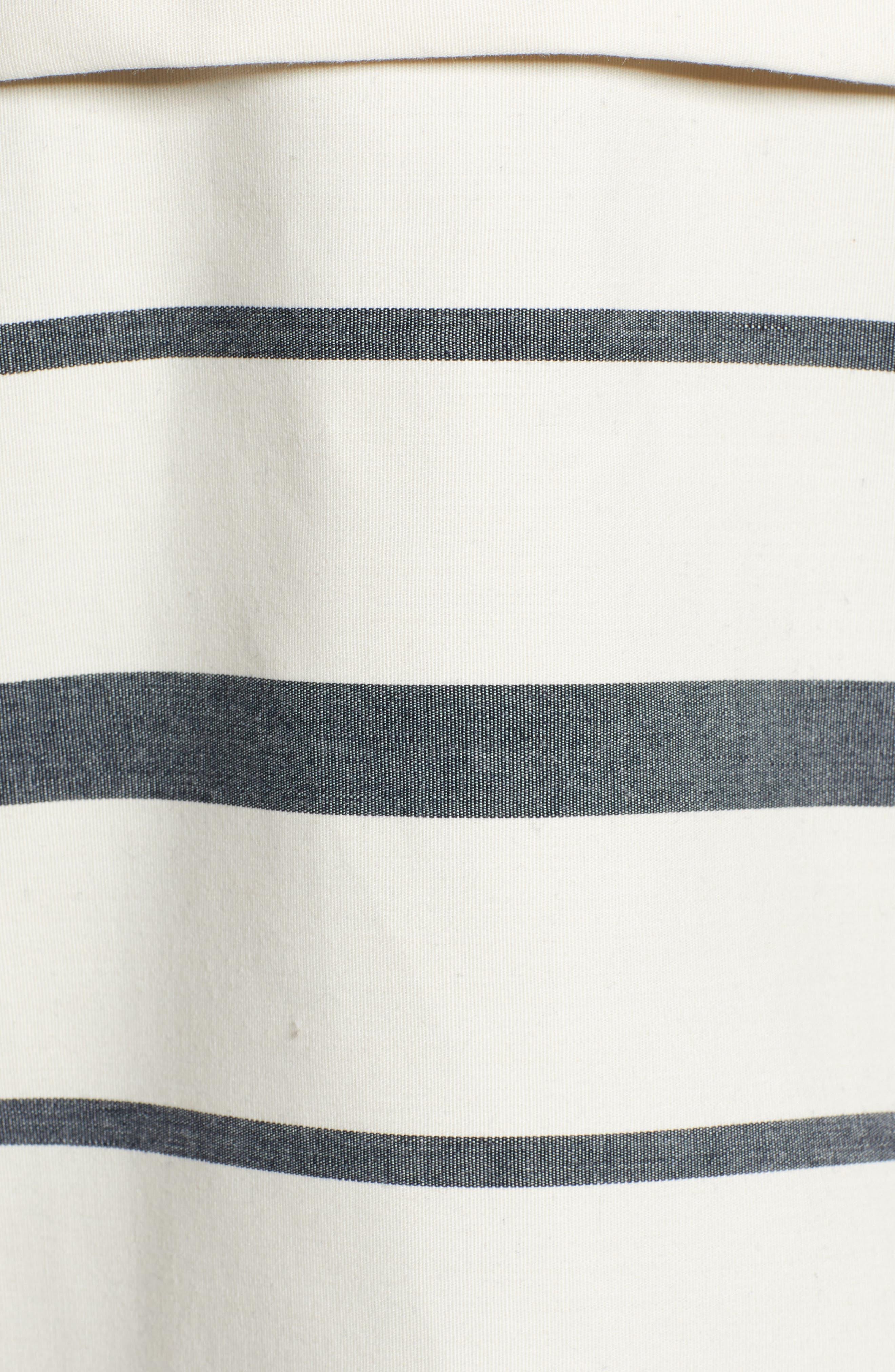 THREAD & SUPPLY, Portside Rain Jacket, Alternate thumbnail 6, color, BLACK WHITE STRIPE