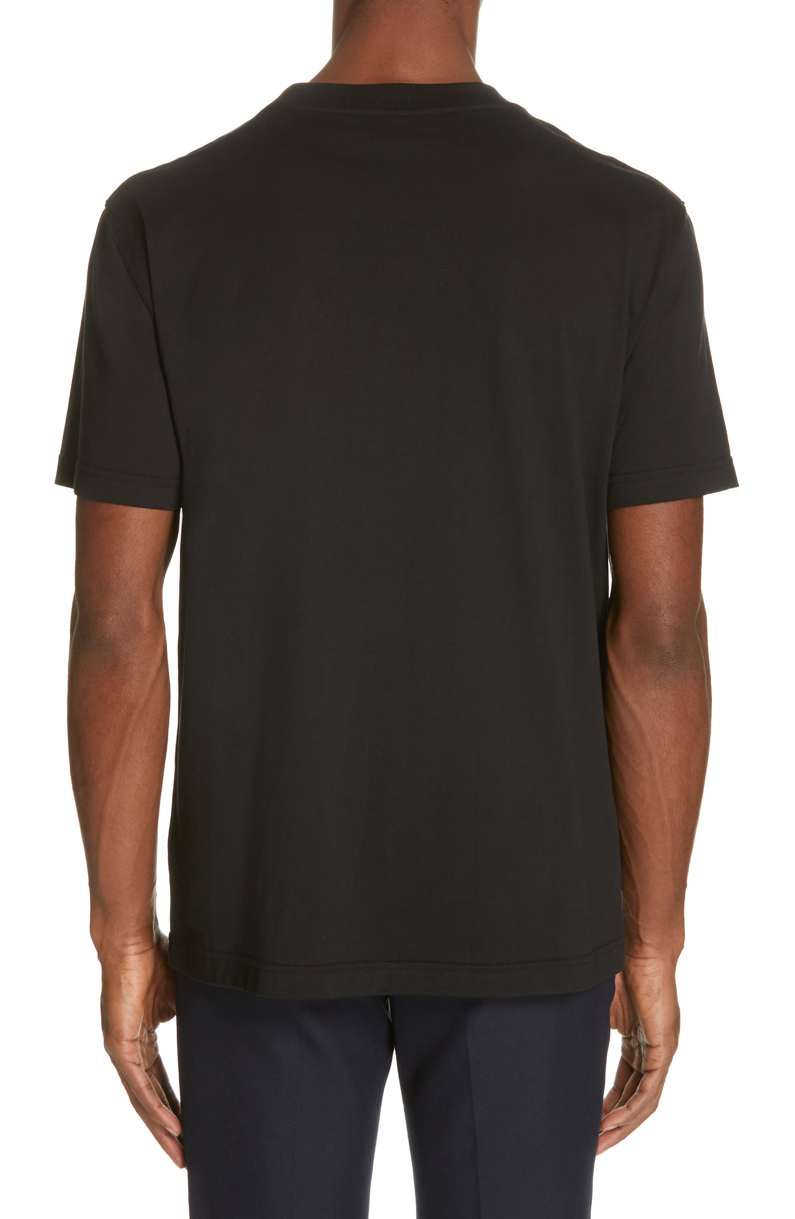 CALVIN KLEIN 205W39NYC, Jaws Graphic T-Shirt, Alternate thumbnail 2, color, BLACK