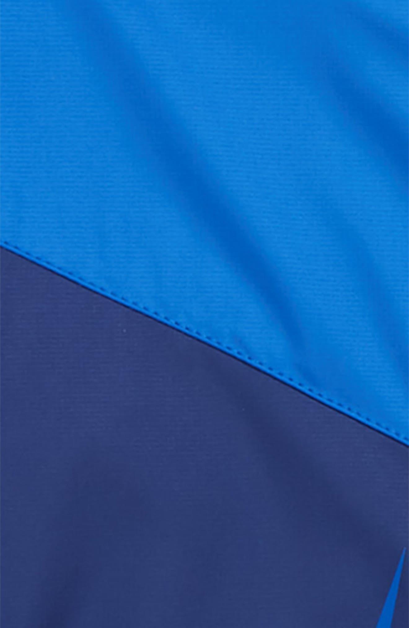 NIKE, Sportswear Windrunner Zip Jacket, Alternate thumbnail 2, color, BLUE VOID/ GAME ROYAL