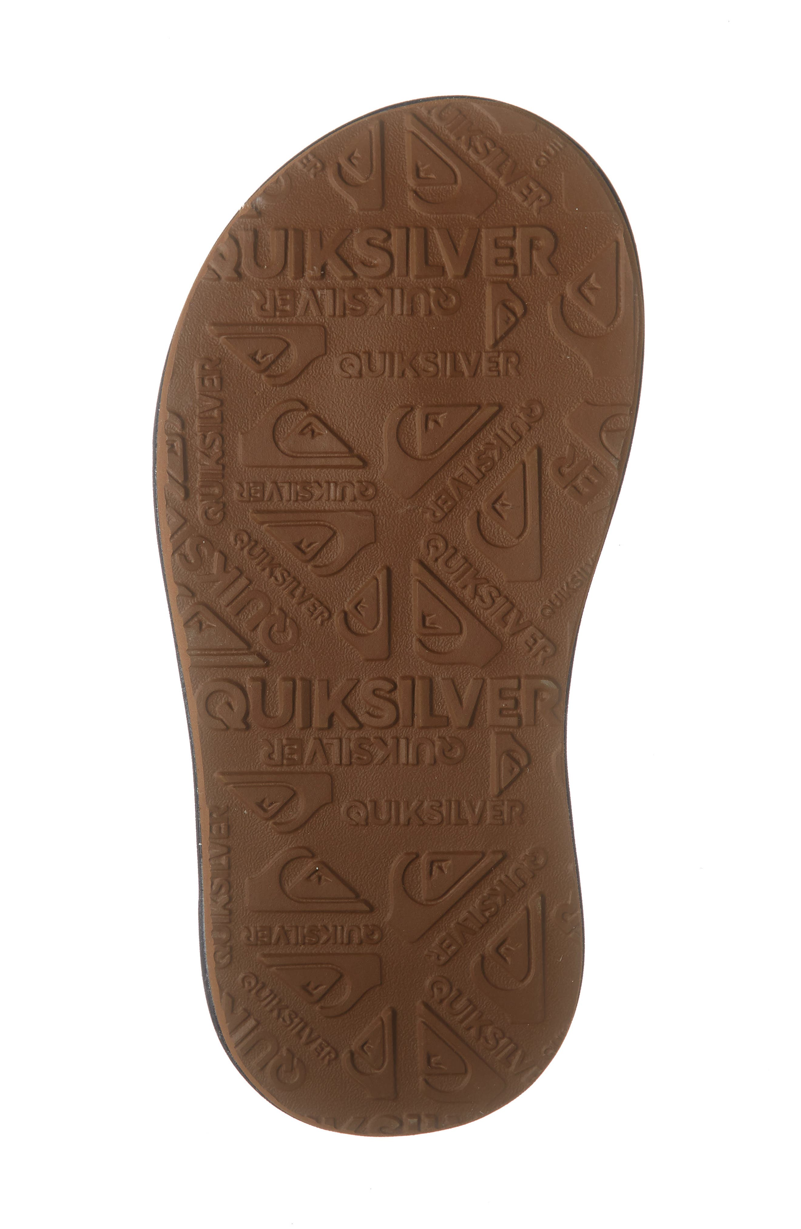 QUIKSILVER, Oasis Flip Flop, Alternate thumbnail 6, color, BLACK/ BLACK/ BROWN