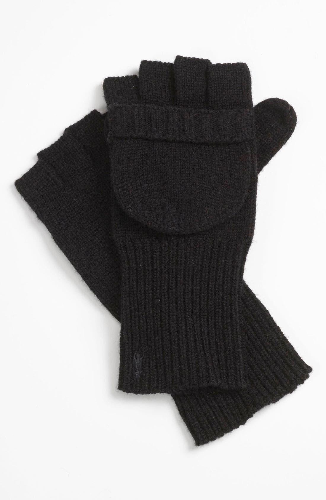 POLO RALPH LAUREN Convertible Gloves, Main, color, 001