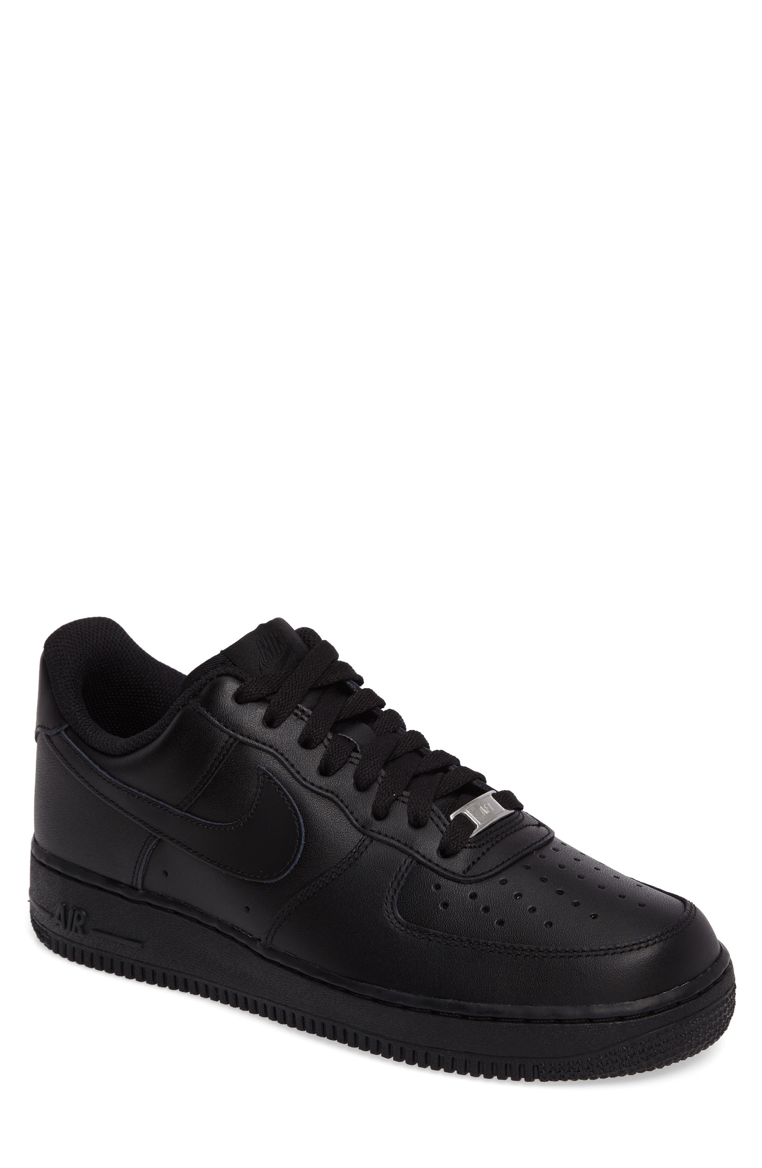NIKE, Air Force 1 '07 Sneaker, Main thumbnail 1, color, BLACK/ BLACK