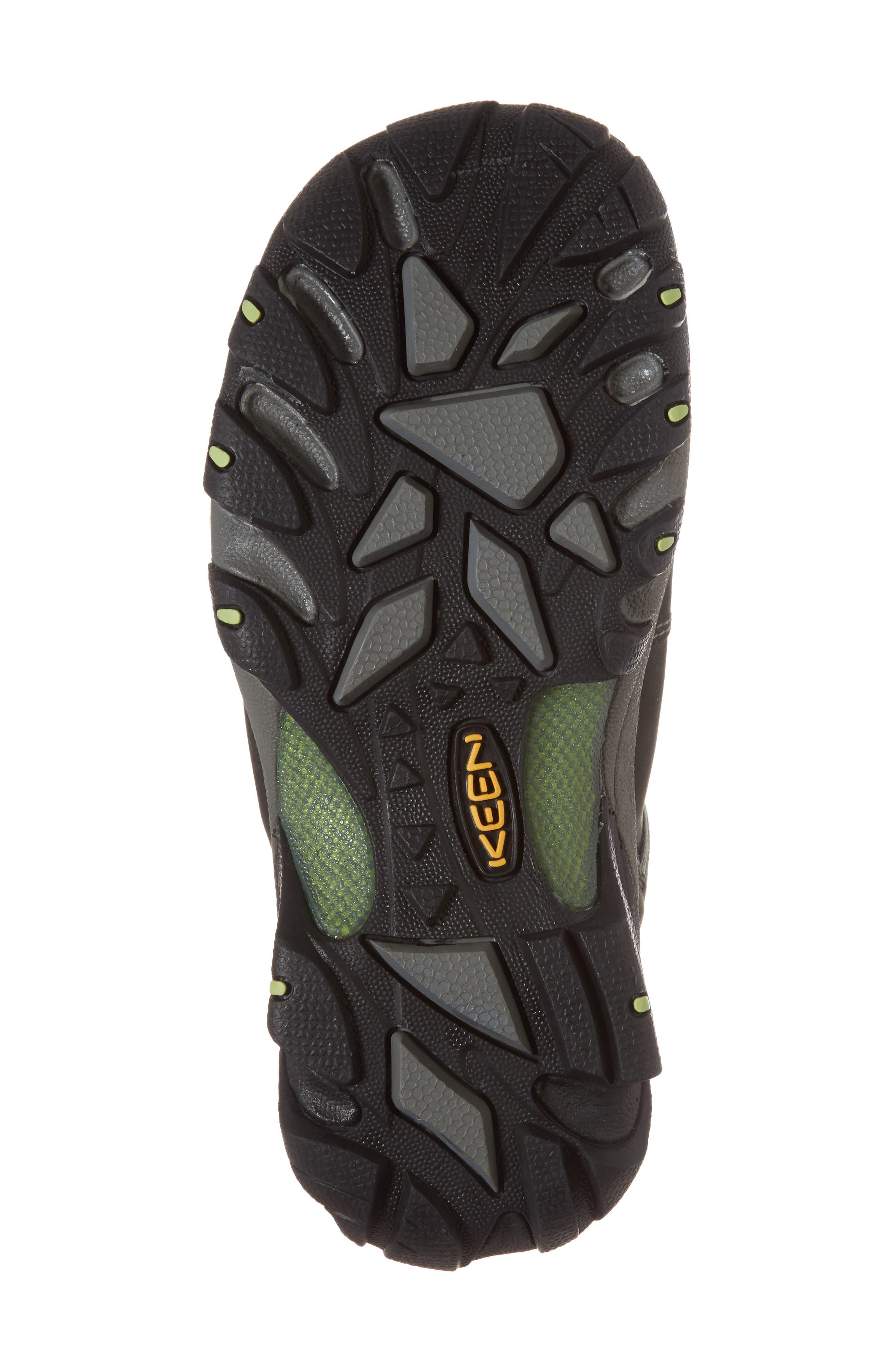 KEEN, Targhee II Mid Waterproof Hiking Boot, Alternate thumbnail 6, color, RAVEN/ OPALINE