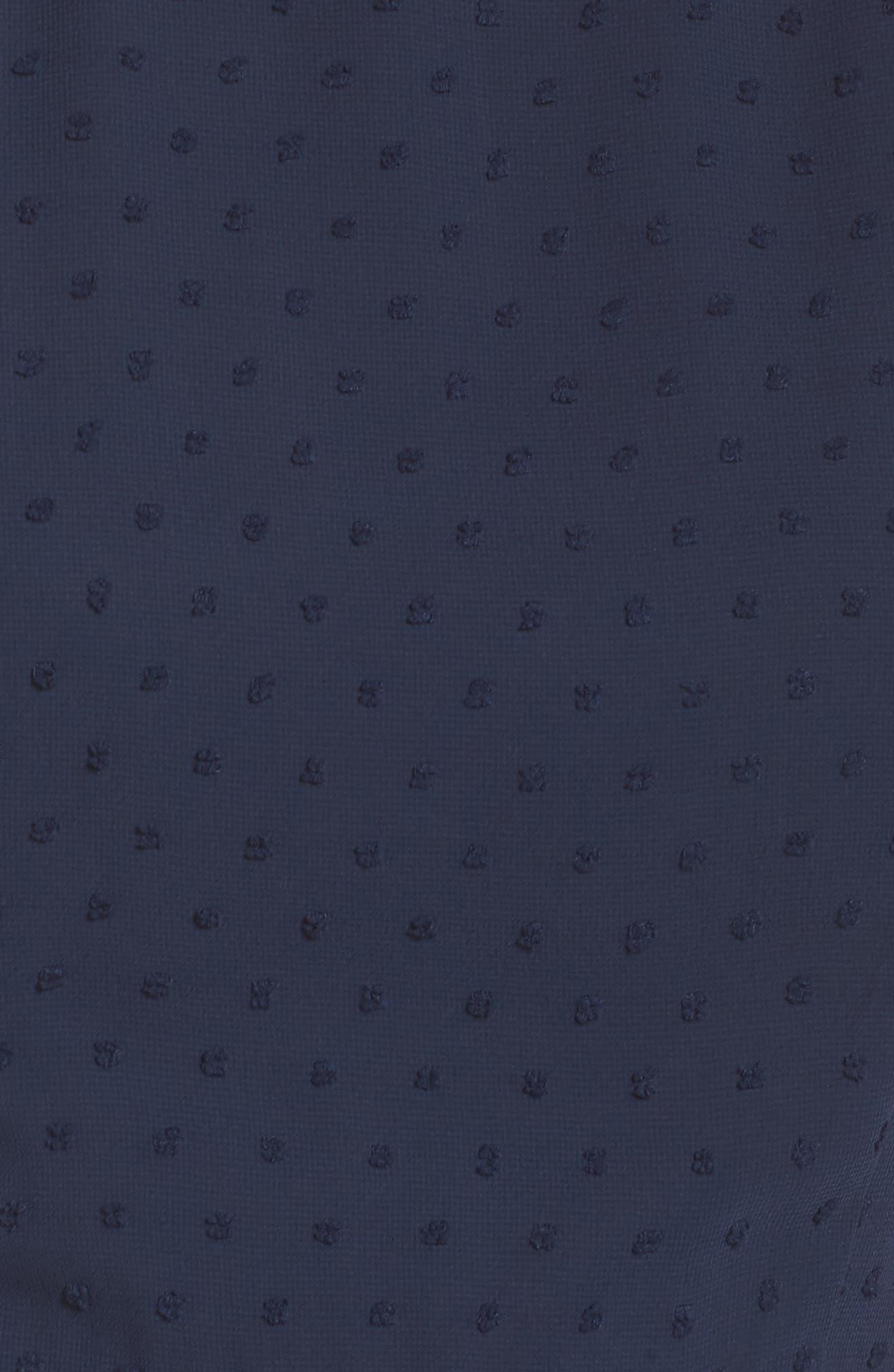 19 COOPER, Swiss Dot Ruffle Dress, Alternate thumbnail 6, color, 410