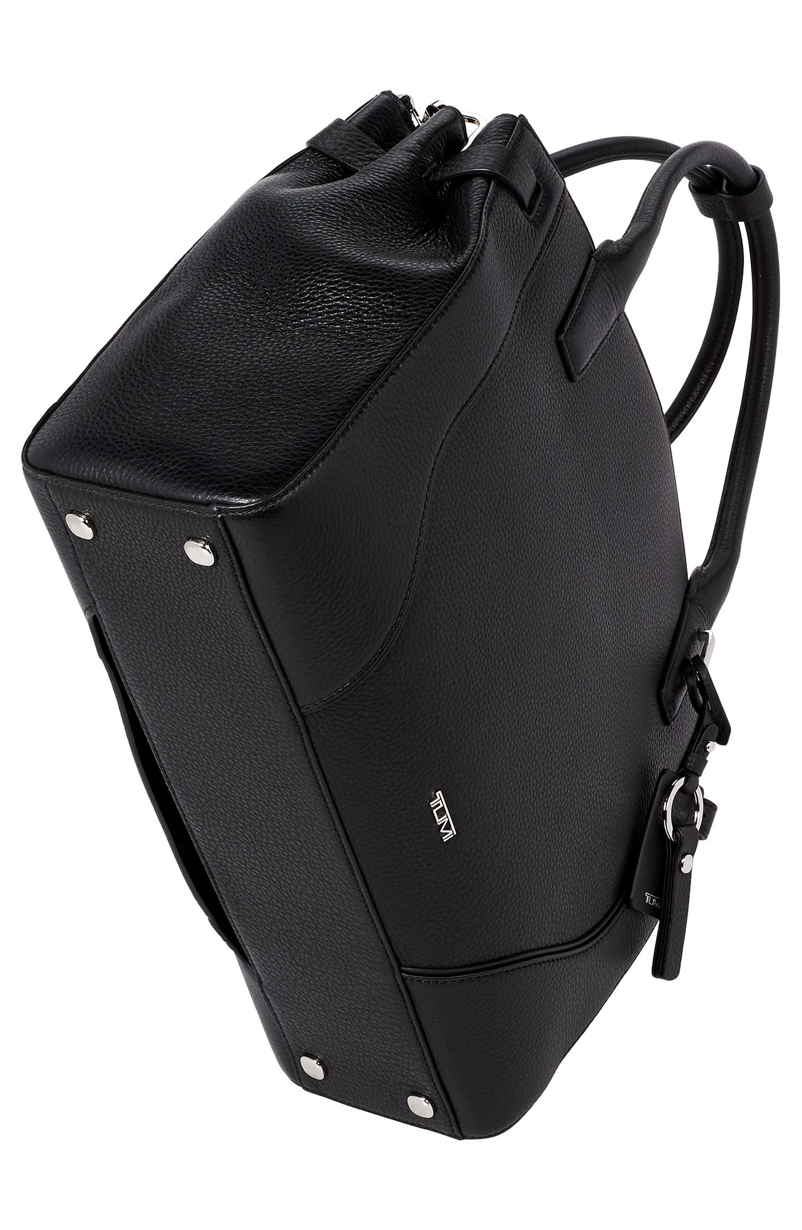 TUMI, Stanton Kiran Leather Laptop Briefcase, Alternate thumbnail 4, color, BLACK