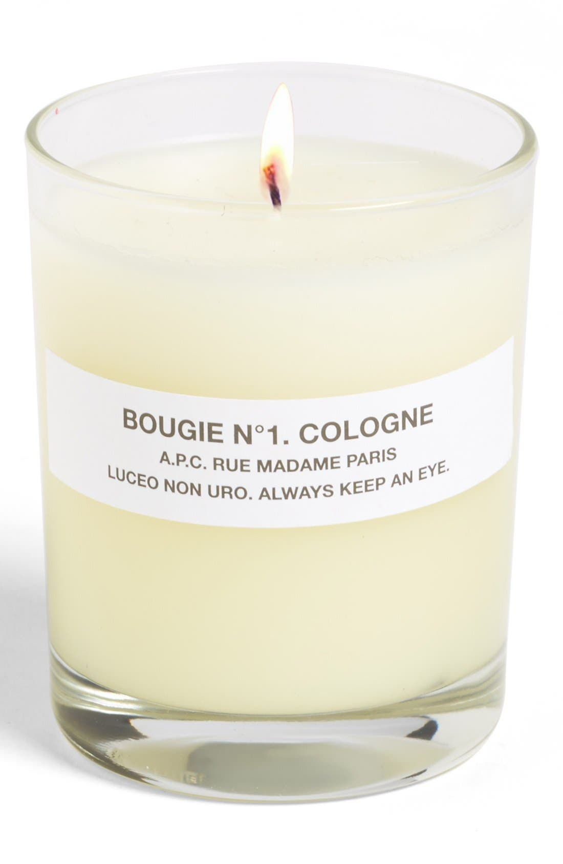A.P.C., 'Bougie Cologne' Scented Candle, Main thumbnail 1, color, 800