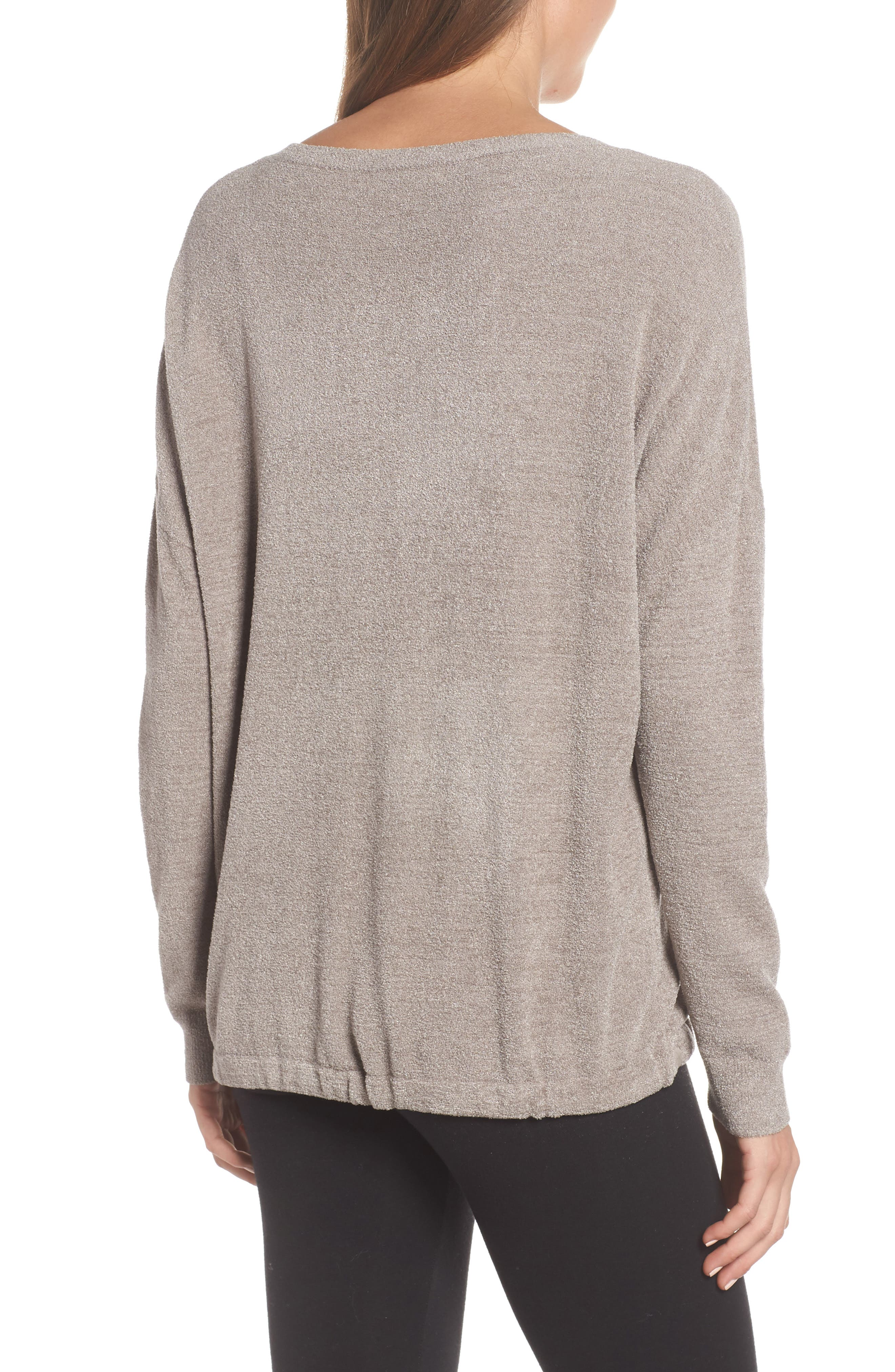 BAREFOOT DREAMS<SUP>®</SUP>, Cozychic Ultra Lite<sup>®</sup> Lounge Pullover, Alternate thumbnail 2, color, BEACH ROCK