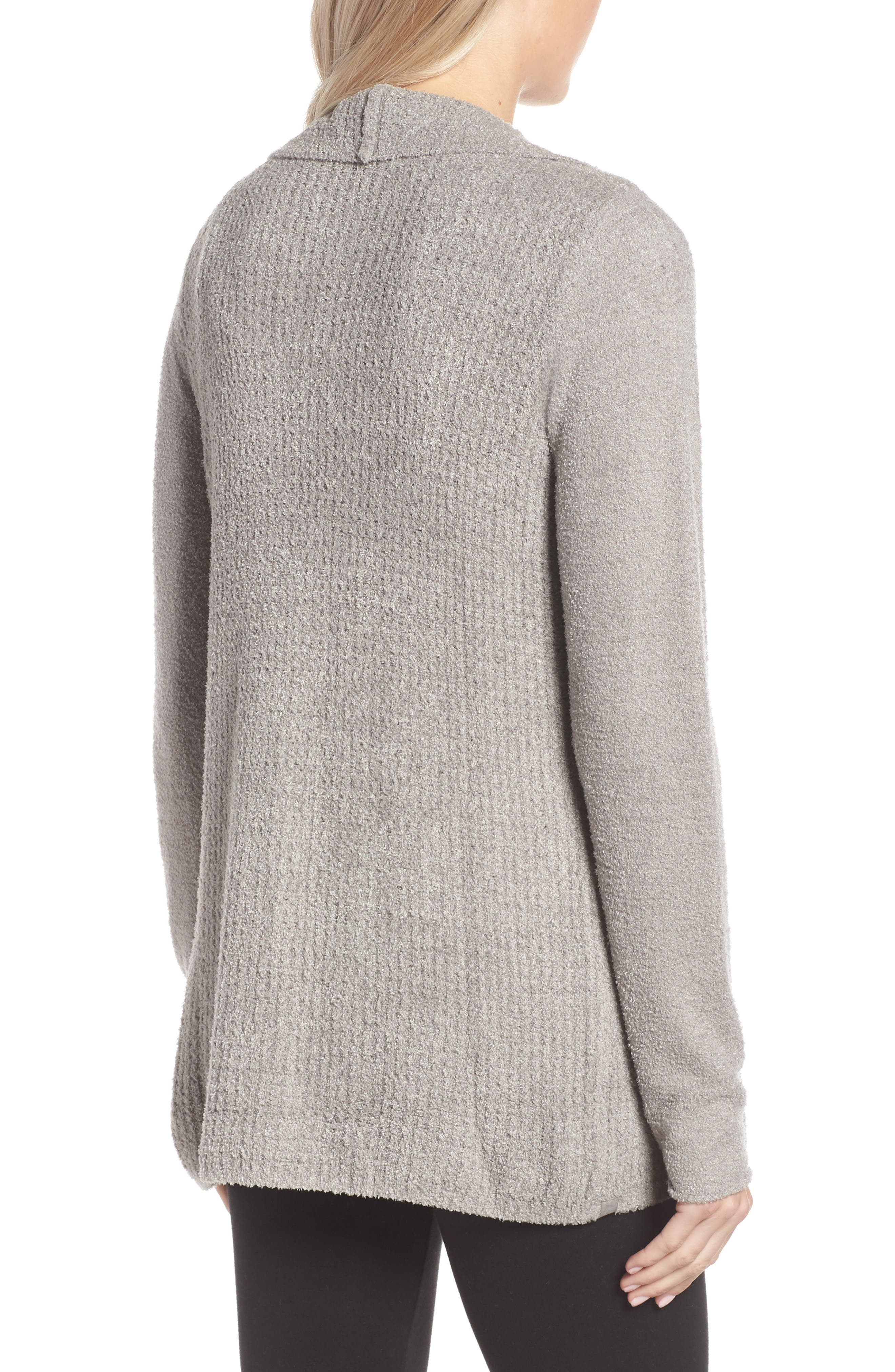 BAREFOOT DREAMS<SUP>®</SUP>, Cozychic<sup>®</sup> Lite Coastal Cardigan, Alternate thumbnail 2, color, PEWTER