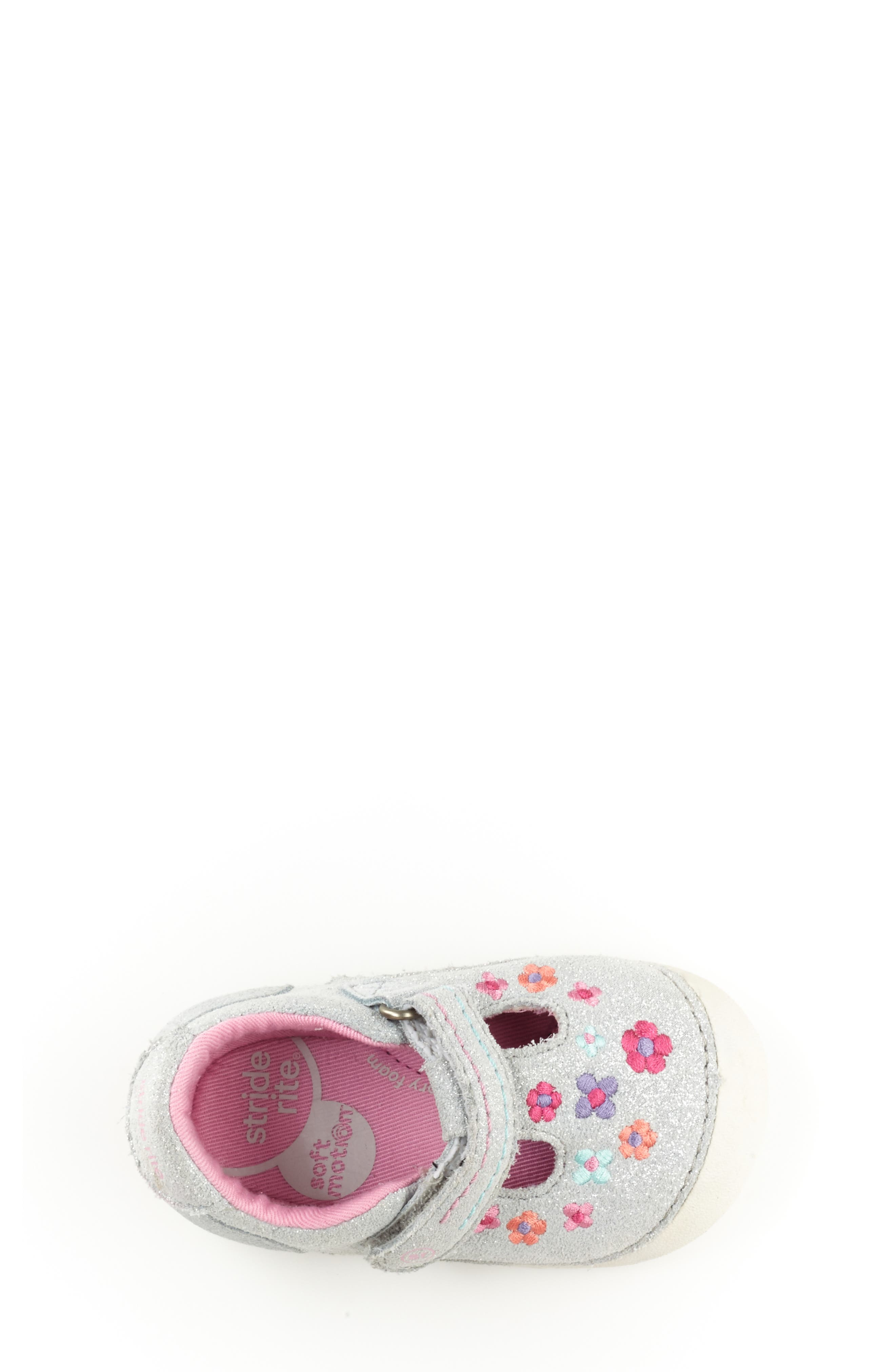 STRIDE RITE, Soft Motion<sup>™</sup> Tonia T-Strap Mary Jane, Alternate thumbnail 4, color, SILVER
