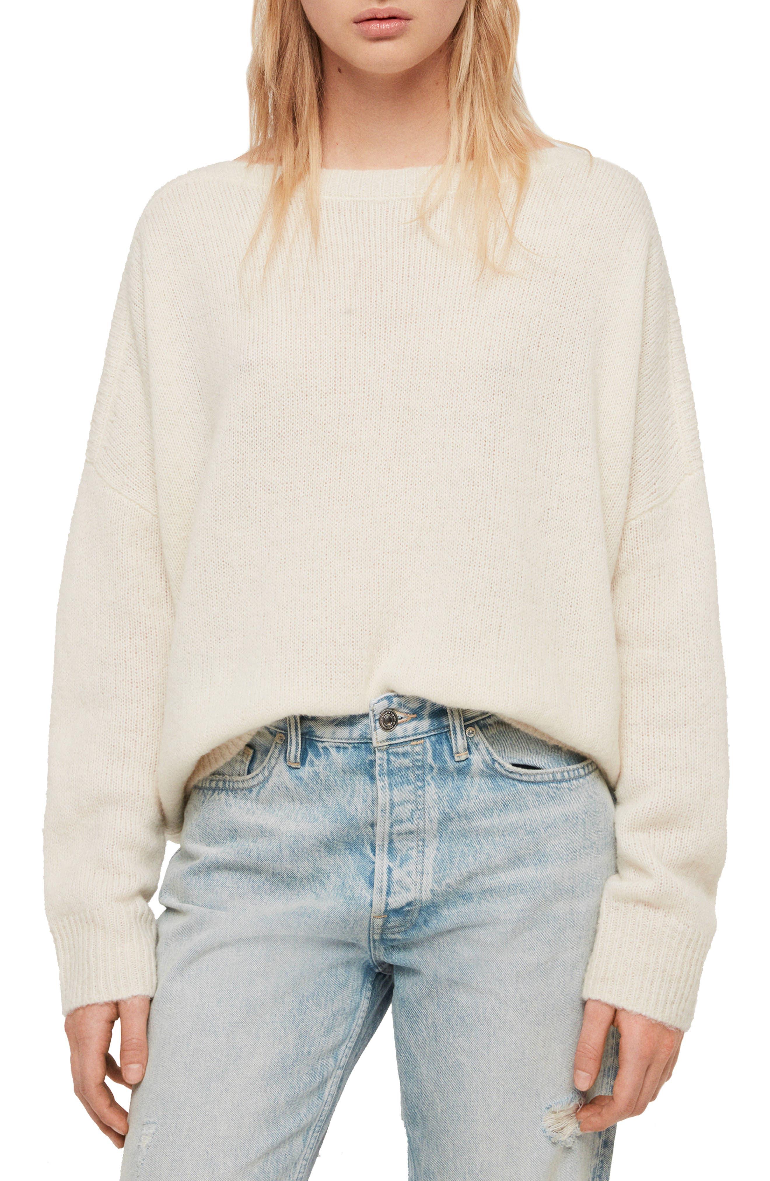 ALLSAINTS, Aris Sweater, Main thumbnail 1, color, CHALK WHITE