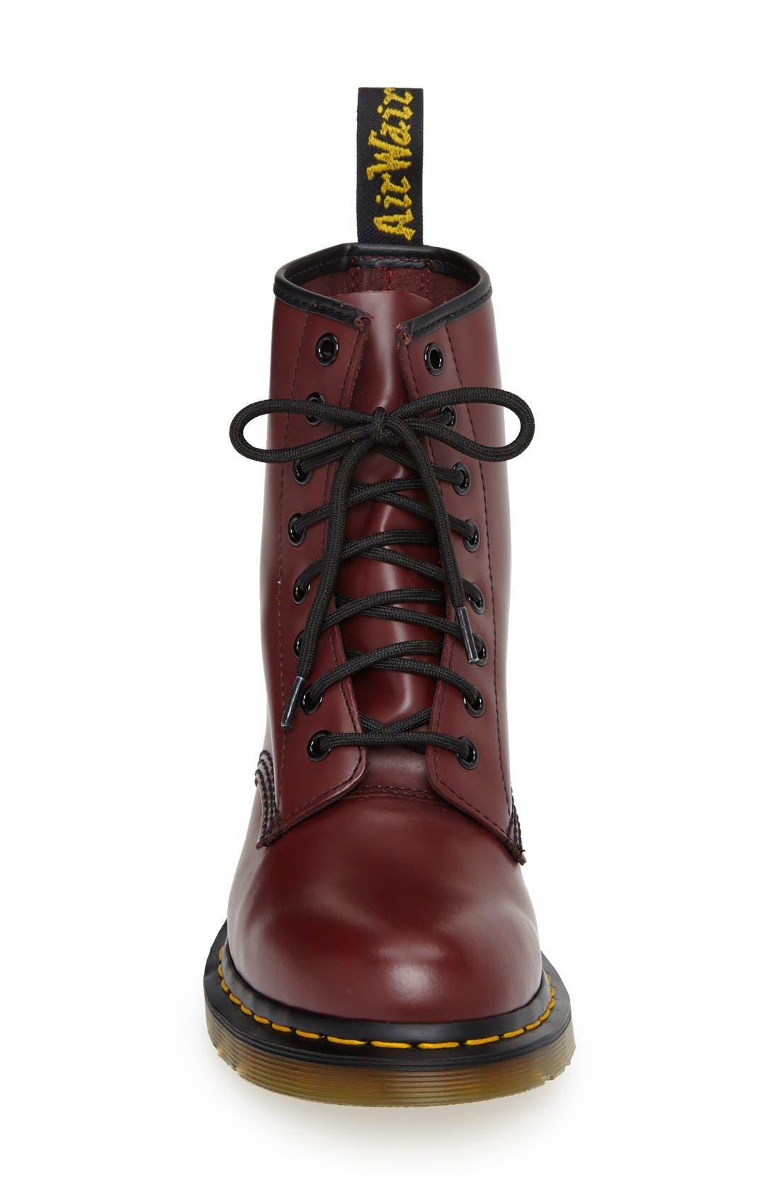DR. MARTENS, '1460 W' Boot, Alternate thumbnail 3, color, CHERRY